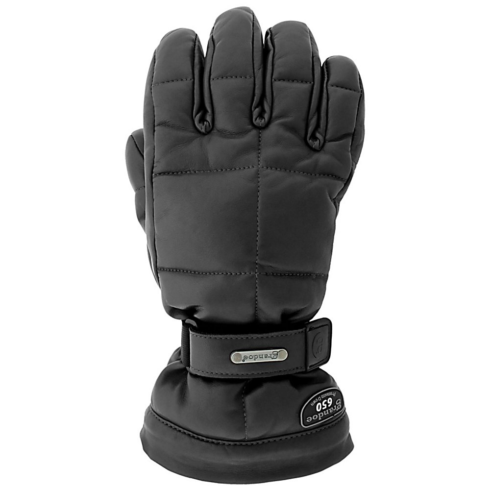 Ski Grandoe Leather Mother Goose Womens Gloves - Top of the line in class, comfort, and style, the Leather Mother Goose has a full WaterBlock Sheepskin outer shell and is insulated with 100% natural goose down. The WaterBlock Sheepskin is going to keep your hands dry by locking out the elements. Leather Radial Palm provides superb grip whether you're holding ski poles or grabbing melon. Goose Down and MicroThermaDry insulation along with the mitt design keeps you super warm. Nobody knows better than Grandoe Mother Goose Mitt. . Removable Liner: No, Material: Sheepskin, Warranty: One Year, Battery Heated: No, Race: No, Type: Glove, Use: Ski/Snowboard, Wristguards: No, Outer Material: Leather, Waterproof: Yes, Breathable: Yes, Pipe Glove: No, Cuff Style: Over the cuff, Down Filled: Yes, Touch Screen Capable: No, Model Year: 2013, Product ID: 289767 - $139.95
