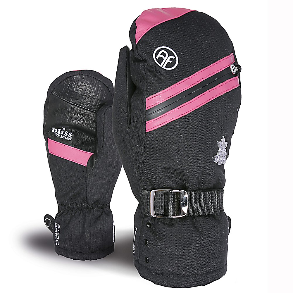 Ski Level Bliss Aimee Womens Mittens - The Level Bliss Aimee Mitten for women is the perfect compromise between a full gauntlet and an under-the-cuff style length. 100% Waterproof with highly breathable membrane that works to optimize warmth and comfort by keeping the hands dry. The Primaloft 200gr Insulation is soft, supple and low bulk synthetic fiber insulation. The best solution to keep your hands dry and it improves the drying time of your glove by getting moisture out fast. With a natural fit and fur cuff every women is going to want to get there hands not only on these mittens but get there hands in these mittens. . Removable Liner: No, Material: Primaloft, Warranty: One Year, Battery Heated: No, Race: No, Type: Mitten, Use: Ski/Snowboard, Wristguards: No, Outer Material: Nylon, Waterproof: Yes, Breathable: Yes, Pipe Glove: No, Cuff Style: Under the cuff, Down Filled: No, Touch Screen Capable: No, Model Year: 2013, Product ID: 291022 - $69.91