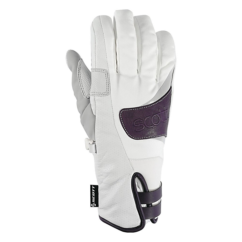 Ski The Scott Annita Womens Ski Gloves bring to you durability, dexterity and warmth, all that Scott is know for. Scott gloves are made to withstand the elements and provide superior grip when you need it most. You not only get a great look to complete an awesome ski apparel style - The Annita Glove is the key to withstand a rugged mountain adventure. The technology of the outer material and the insulation of The Scott Annita Glove has been designed to keep your hands dry, breathable and just the right temperature for you to take your next challenge as you ride the slopes.  Shell: Pittards Leather,  Insulation: 100g Hydroloft,  Lining: Fleece on back of hand/  MicoBemburg on palm,  GTIN: 0886118195957, Model Number: 224513-2320006, Product ID: 296192, Model Year: 2013, Glove/Mitten Insulation: Synthetic, Glove Weather Condition: Average, Glove Quality: Better, Touch Screen Capable: No, Down Filled: No, Cuff Style: Under the cuff, Pipe Glove: No, Breathable: Yes, Waterproof: Yes, Glove Outer Fabric: Leather, Wristguards: No, Use: Ski/Snowboard, Type: Glove, Race: No, Battery Heated: No, Warranty: One Year, Material: Shell: Pittards Leather Lining: Fleece on back of hand/MicroBemburg on palm, Removable Liner: No - $39.96