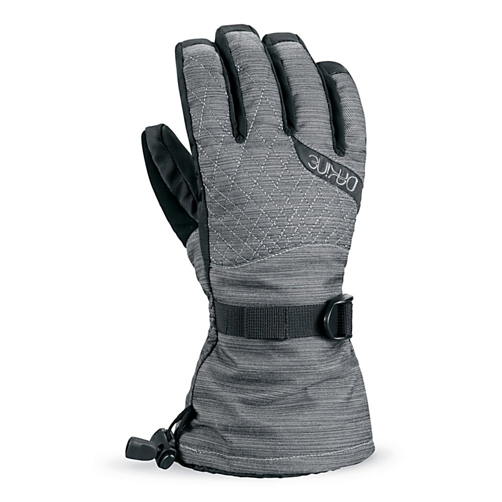 Snowboard Dakine Camino Womens Gloves - Not only is this pair of Dakine Camino Snowboard Gloves convenient, the design is really smart as well. Not only from the incredible features, but also because of the smart design, there is a removable 280g, 4x4 stretch fleece liner that is included. This Hipora waterproof insert uses a unique polyurethane film technology that shuts out water from the outside keeping your hands warm and dry on the inside. No more putting your gloves in the dryer and waiting precious ski and boarding time when you could be out in the fresh powder instead. Designed specifically for the anatomical fit of a womens hand this pair of Camino Gloves Allowing your gloves to dry over night will be easy and quick by removing the liner and letting them air dry. Other great features include the nose and goggle wipe thumb panels, the 150g tricot lining, and the one hand cinch gauntlet cuff closure that will keep the warmth in and the snow out where it belongs. Taking charge will be easy with this pair of Camino Snowboard Gloves from the moment that you purchase them, pack them and then wear them as you shred through the powder. Features: One hand cinch gauntlet, Nose and goggle wipe thumb panels. Removable Liner: Yes, Material: Weathershield Nylon, Warranty: One Year, Battery Heated: No, Race: No, Type: Glove, Use: Ski/Snowboard, Wristguards: No, Outer Material: Nylon, Waterproof: Yes, Breathable: No, Pipe Glove: No, Cuff Style: Over the cuff, Down Filled: No, Touch Screen Capable: No, Model Year: 2012, Pr - $44.95