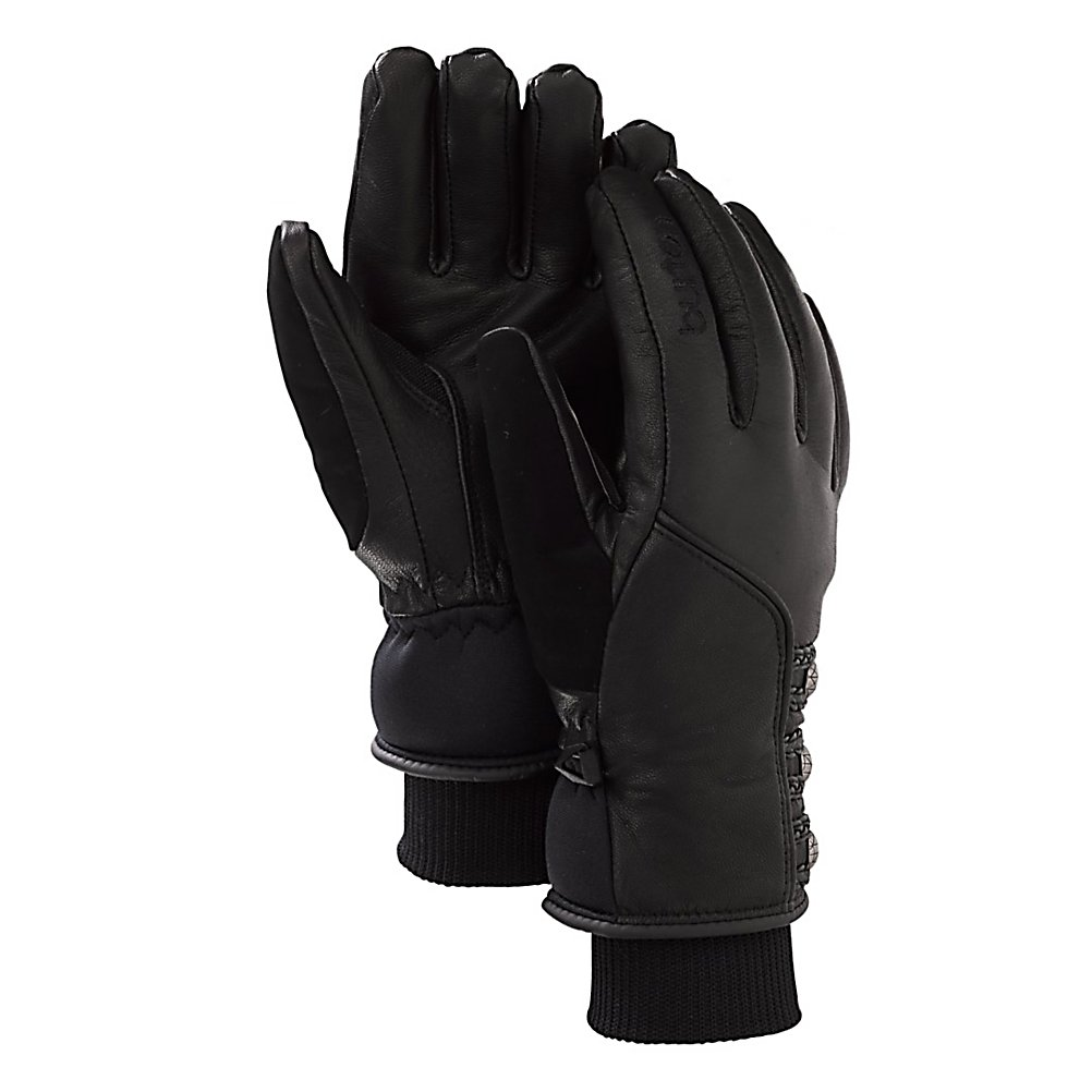 Snowboard Burton Favorite Leather Womens Gloves - Do your hands tend to get really cold? Then try out the Burton Favorite Leather Snowboard Gloves. They have double the warmth and double the dryness thanks to a leather shell exterior and insulation inside. The flexible Gnar Guard Leather Shell and Palm is extremely durable and very comfortable all while providing you with great waterproofness and breathability. There is a DRYRIDE Insane Membrane which is then and weatherproof protecting your hands from the howling winds and bitter chill of winter all while helping to wick away sweat from your hands. You're looking at dry, comfy and warm fingers all day long. Thermacore Insulation utilizes very low bulk while helping to keep the heat inside without limiting your movement. The Burton Favorite Leather Snowboard Gloves offer an Ergonomic Pre-Curved Fit so your hands are always in a relaxed and comfortable position. . Warranty: One Year, Battery Heated: No, Wristguards: No, Touch Screen Capable: No, Model Year: 2013, Product ID: 288695, Shipping Restriction: This item is not available for shipment outside of the United States., Weight: Not Specified, Down Filled: No, Cuff Style: Under the cuff, Pipe Glove: No, Breathable: Yes, Waterproof: Yes, Outer Material: Leather, Use: Ski/Snowboard, Type: Glove, Race: No, Material: DRYRIDE Insane Membrane, Removable Liner: No - $74.95
