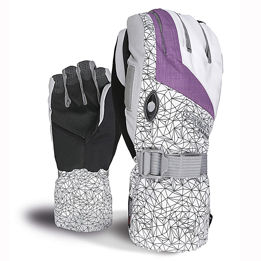 Snowboard Level Matrix Womens Gloves - The Level Womens Matrix Glove is the perfect blend of style and function for your hands. Geared for all mountain use with excellent water-resistant fabrics, improved sensitivity and exceptional grip. Stretch fabric provides a perfect combination of flexibility and durability. The Matrix Gloves use Thermo-Plus insulation which has been proven to reduce heat dispersion by 30%, this means that heat doesn't escape and your hands stay 30% warmer. Level pays great attention to comfort and functionality as they express quality and current style and design. With a removable liner which gives you options when the weather becomes warmer. The Matrix Glove comes equipped with a goggle and nose wipe to make sure you can see perfectly clear and without a runny nose. The Level Matrix Glove is one piece of equipment women should have to live without. . Removable Liner: Yes, Material: Thermoliner, Warranty: One Year, Battery Heated: No, Race: No, Type: Glove, Use: Ski/Snowboard, Wristguards: No, Outer Material: Nylon, Waterproof: No, Breathable: Yes, Pipe Glove: No, Cuff Style: Over the cuff, Down Filled: No, Touch Screen Capable: No, Model Year: 2013, Product ID: 290952 - $65.00