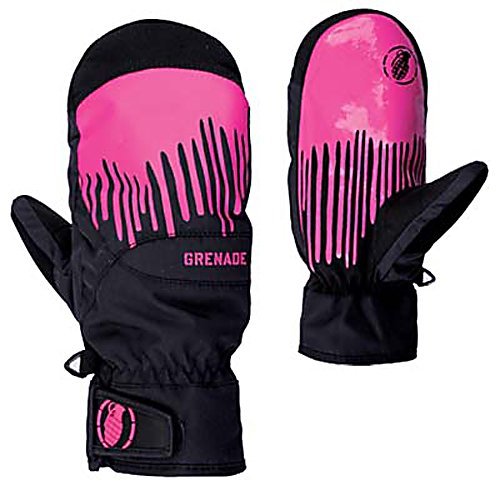 Snowboard Grenade Dripper Womens Mittens - The Womens Dripper Mitt from Grenade is going to keep you protected from malicious winter attacks. Mitten over a glove is going to provide an increase in hand temperature since your fingers are together, rather than separated like a glove. Endless tow rope laps mean nothing to the Dripper Mitt with Lorics Suede Palm, is going to be durable and long lasting. Durable Nylon exterior matched with Primaloft insulation is going to keep your hands warm all day long, while moisture wicking treatment of the Dripper help keep you dry. Hipora breathability allows for your hands to regulate temperature. Waterproof inserts keeps your hands dry from mother natures snow storms. The Womens Dripper Mitt is going to a womens best friend. . Warranty: One Year, Touch Screen Capable: No, Model Year: 2013, Product ID: 292029, Down Filled: No, Cuff Style: Under the cuff, Pipe Glove: No, Breathable: Yes, Waterproof: Yes, Outer Material: Nylon, Wristguards: No, Use: Ski/Snowboard, Type: Mitten, Race: No, Battery Heated: No, Material: Primaloft Insulation, Removable Liner: No - $59.99