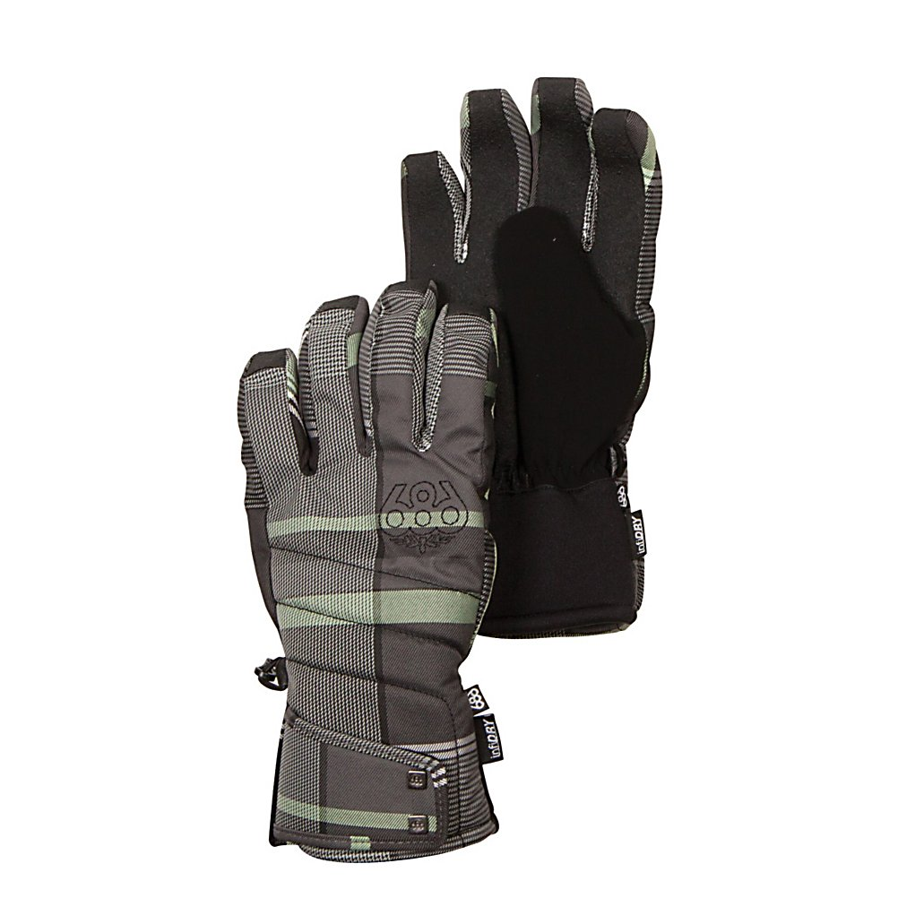 Snowboard 686 Radiant Insulated Womens Gloves - The 686 Radiant Glove is proud to be around to greet the upcoming cold weather season as being the most comprehensive glove going into the new year. The waterproof/breathable technologies are advanced to keep you warm, dry and protected. The textured and quality fabrics keep you covered both aesthetically and functionally. The knuckle and palm fiberfill insulation and waterproof liner make it easy for you to stay cozy and toasty as you practice your sport. To sum up The Radiant Glove is its outer looks, as this glove will add to your coolness factor. Features: Metal rivet accents. Removable Liner: No, Material: Polyester, Warranty: Other, Battery Heated: No, Race: No, Type: Glove, Use: Ski/Snowboard, Wristguards: No, Outer Material: Nylon, Waterproof: Yes, Breathable: Yes, Pipe Glove: No, Cuff Style: Over the cuff, Down Filled: No, Touch Screen Capable: No, Model Year: 2013, Product ID: 292453 - $50.00