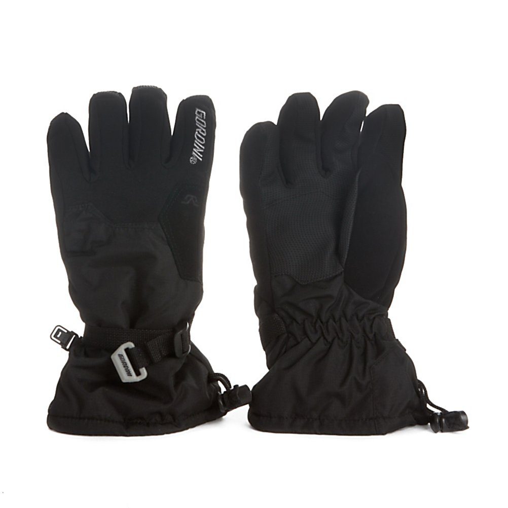 Ski Gordini Stomp II Juniors Kids Ski Gloves - The Gordini Stomp II Gloves are keeping your fearless children's hands warm while they ski down the mountain during the winter vacation. Insulating the gloves is Megaloft technology that keeps the hands and fingers nice and toasty. The Hydrowick Microdenier lines the interior to help absorb moisture in the glove and the Aquabloc seam-sealed insert makes the gloves ultra breathable, waterproof and windproof. Aquabloc is exclusively engineered for handwear, a technology that allows moisture accumulated from within the glove to escape and provide breathability and enhanced warmth and comfort. The kids' hands will still dry so that when the wind picks up they won't be chilly. The shell of the Gordini Stomp II Glove is mini ripstop with breathe weave stretch woven fabric. Digital grip palm, fingers, and thumbs as well as wrap caps will help keep a firm grip on ski poles and chairlifts; they won't have an excuse to not carry in their skis at the end of the day! If they happen to take a small tumble into powder keeping the snow from entering and the heat from exiting is a Gauntlet Cinch Closure. There's also a nose wipe in case the weather makes the nose run a bit. Overall, for comfort, warmth and dry hands go with the reliable Gordini Stomp II Gloves. Features: Gauntlet Cinch Closure, Nose Wipe. Removable Liner: No, Material: Mini ripstop with breathe weave stretch woven fabric, Warranty: One Year, Battery Heated: No, Race: No, Type: Glove, Use: Ski/Snowboard, Wristguards: No, Oute - $24.98