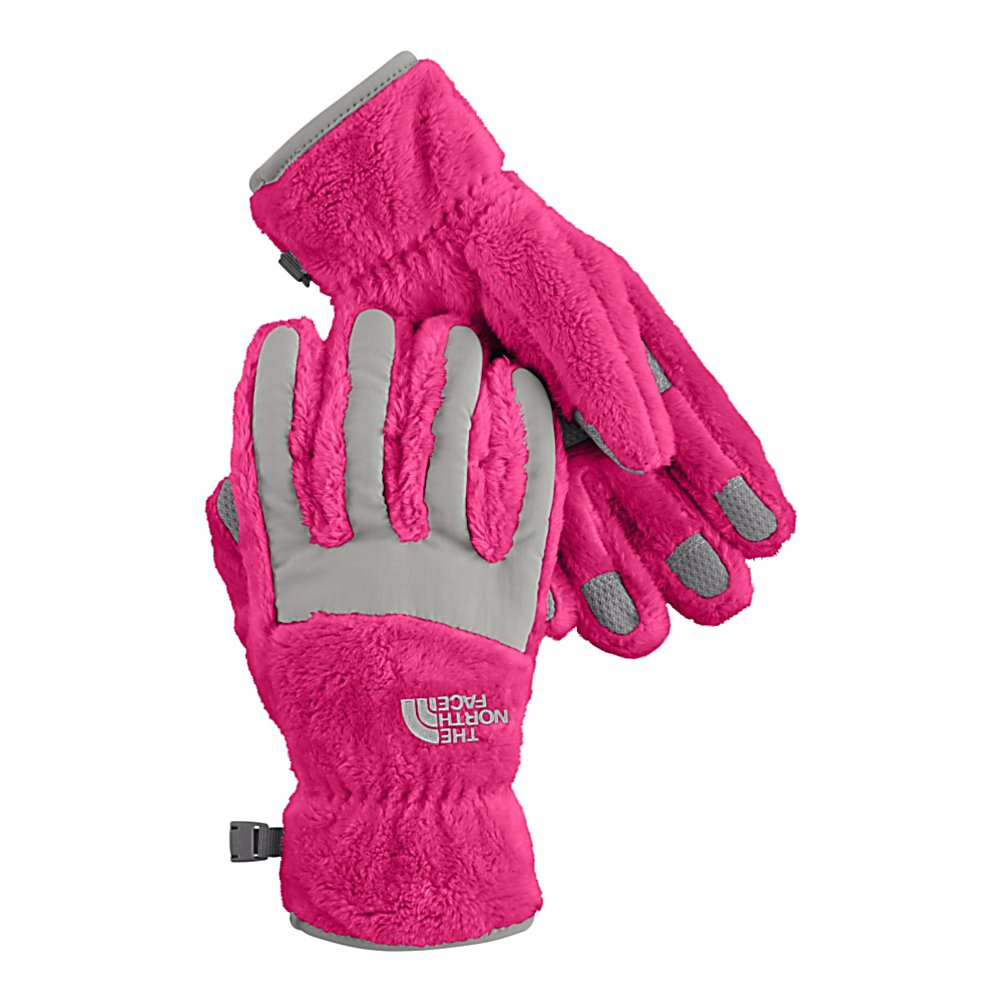 Ski The North Face Denali Thermal Girls Casual Girls Ski Gloves - Created by North Face, the Denali thermal girls Casual Gloves are made for junior outdoor individuals that want a classic looking pair of gloves that will are well insulated with high loft fleece for maximum warmth while on the slopes, in the park, skating on the lake or sledding on a much appreciated snow day. The 5 dimensional fit technology uses five measurements taken from a single index point at the heel of the hand, this pair of gloves has been built from the inside out to ensure a consistent size no matter what the use that this pair of gloves are intended for. Another feature is the radiametric articulation technology that uses a unique differential fabric pattern that produces built-in, natural articulation, mirroring the relaxed position of the hand while improving warmth and blood flow to your fingers keeping them comfortable and toasty warm all day long. The elastic wrists seal keeps out the cold and the unwanted snow while the synthetic gripper palms add durability and strength so you can grab your board or your ski poles over and over without tearing. This pair of Denali Thermal Junior Ski Gloves have built-in-class comfort, warmth, dexterity and design all wrapped into this one junior ski gloves just for girls. Features: Synthetic Gripper Palms, North Face Logo on Front Side of Gloves, Youth Specific Fit. Removable Liner: No, Material: Polyester High Loft Fleece with Nylon Taslan overlay, Warranty: Lifetime, Battery Heated: No, Race: No, Type: Glove, Use: Casua - $18.99