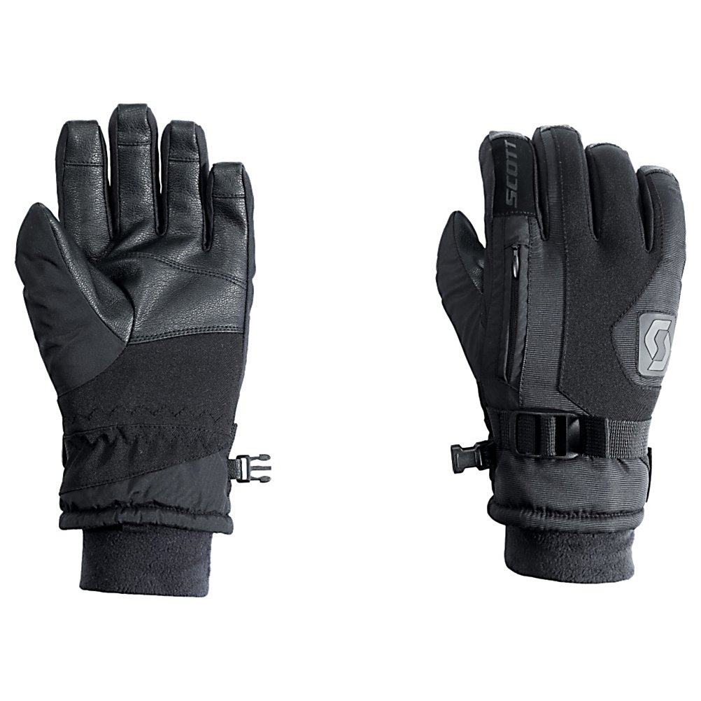 Ski Scott Gripper Junior Ski Gloves 2012 - The Scott Gripper gloves are where its at no matter if you want to rock them on the mountain or use them for everyday use. The Gripper is made with a softshell/nylon material and leather Toughtek palm. Filled with Thermolite insulation and a soft fleece lining the Gripper is very warm and will keep your hands toasty warm no matter how cold things get. The soft fleece wrist keeps the gripper comfy and the stash pocket allows you to store a little something in your glove. Features: Soft fleece lining. Removable Liner: No, Material: Softshell/Nylon, Warranty: One Year, Battery Heated: No, Race: No, Type: Glove, Use: Ski/Snowboard, Wristguards: No, Outer Material: Softshell, Waterproof: Yes, Breathable: No, Pipe Glove: No, Cuff Style: Under the cuff, Down Filled: No, Model Year: 2012, Product ID: 236723 - $29.98