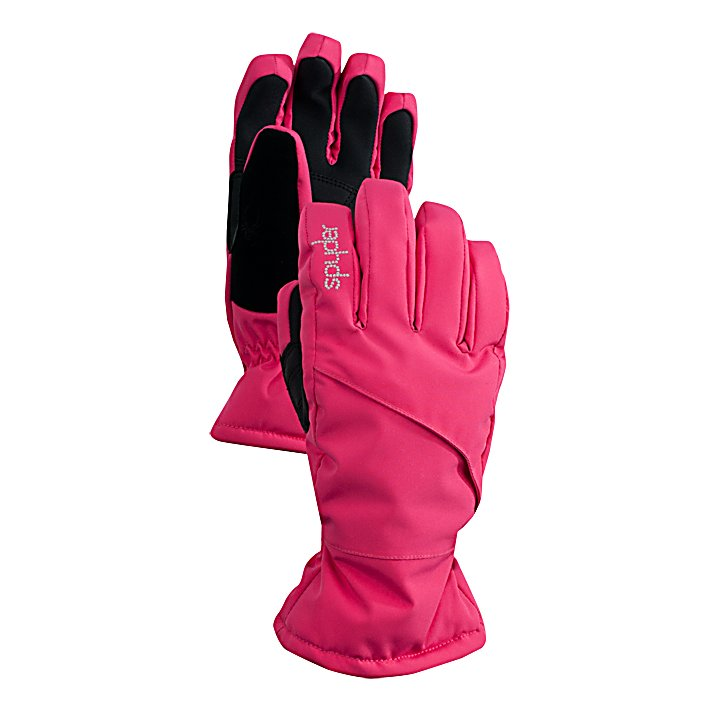 Ski Spyder Astrid Girls Gloves - The Spyder Astrid Ski Gloves are great for any young girl wanting to have warm and comfortable hands while skiing on the slopes. Designed with a waterproof and breathable material, these gloves will block exterior moisture from penetrating the gloves while allowing the interior moisture to evaporate. The Dura-Hyde Leather Palm is strong and tough providing a good grip on ski poles and tow lines. The Astrid Gloves are outfitted with ThermaWeb Insulation which helps traps the heat from her hands inside so they can stay warm. For added comfort, the gloves have a pre-curved articulated fit which helps reduce fatigue. There is also a zippered heater pack pocket so on those cold days when you still want to hit the mountain, you can pop a hand warmer in your daughter's Spyder Astrid Ski Gloves and keep them toasty warm. . Removable Liner: No, Material: Stretch Polyester Plain Weave, Warranty: Lifetime, Battery Heated: No, Race: No, Type: Glove, Use: Ski/Snowboard, Wristguards: No, Outer Material: Nylon, Waterproof: Yes, Breathable: Yes, Pipe Glove: No, Cuff Style: Under the cuff, Down Filled: No, Touch Screen Capable: No, Model Year: 2013, Product ID: 286772 - $45.00