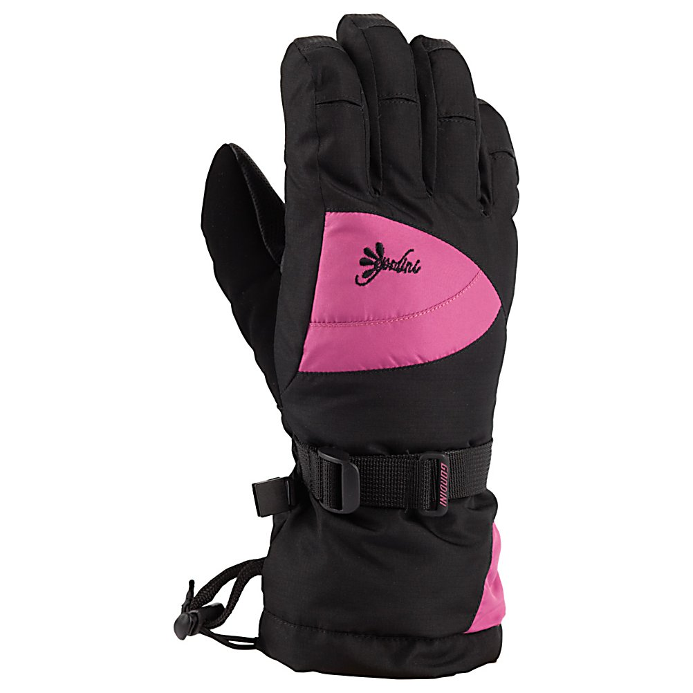 Ski Gordini Gore-Tex II Girls Gloves - The Gordini Gore-Tex II Girls Ski Gloves are prefect for any young skier who wants their hands and fingers warm so they don't have to go in and constantly warm up. Designed with a durable and reliable heavy denier fabric and 3 layer thermal ply they'll stay protected from the nastiest wintry conditions while enjoying your day skiing. Ensuring that their hands and fingers remain cozy is Megaloft Insulation which promotes warmth and comfort in these gloves. Gore-Tex is a high-quality waterproof, windproof and breathable insert includes in the Gore-Tex II Gloves so they will have the best protection to combat the precipitation and wind. The breathability allows for dry hands because the moisture evaporates away from their hands without allowing the exterior elements in. Also, the Hydrowick Microdenier Lining will help push that moisture away from the skin and allow your little skier to have warm and dry hands. Sturdy, strong and reliable, any junior's hands will feel warm and comfy when they're hitting the slopes as long as they're wearing the Gordini Gore-Tex II Girls Ski Gloves. . Model Year: 2014, Product ID: 288400, Touch Screen Capable: No, Down Filled: No, Cuff Style: Over the cuff, Pipe Glove: No, Breathable: Yes, Waterproof: Yes, Outer Material: Nylon, Wristguards: No, Use: Ski/Snowboard, Type: Glove, Race: No, Battery Heated: No, Warranty: One Year, Material: Mini Ripstop with Digital Grip Palm, Fingers, Thumb and Wrap Caps, Removable Liner: No - $42.00