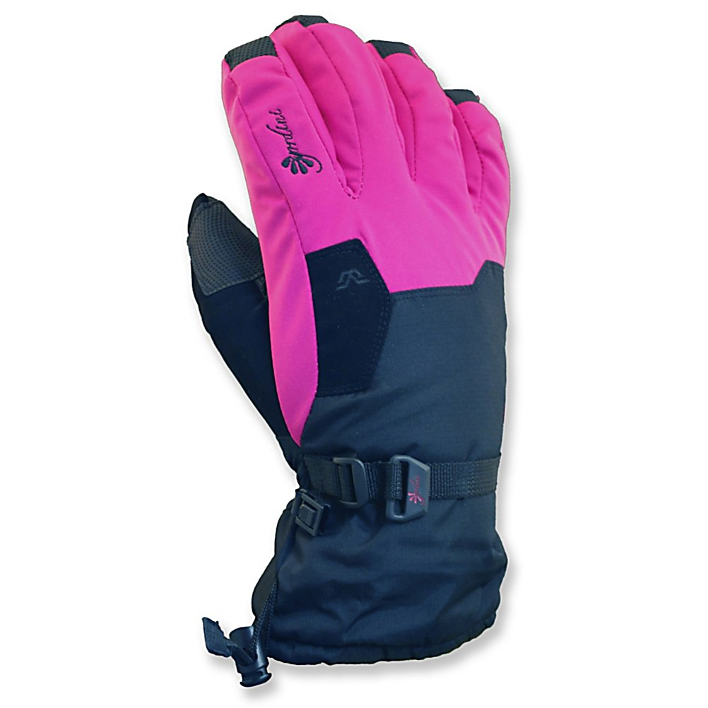 Ski Gordini Stomp II Girls Ski Gloves - The Gordini Stomp II Girls Gloves are keeping your fearless children's hands warm while they ski down the mountain during the winter vacation. Insulating the gloves is Megaloft technology that keeps the hands nice and toasty. The Hydrowick Microdenier lines the interior to help absorb moisture in the mitten and the Aquabloc seam-sealed insert makes the mittens ultra breathable, waterproof and windproof. Aquabloc is exclusively engineered for handwear, a technology that allows moisture accumulated from within the mitten to escape and provide breathability and enhanced warmth and comfort. The kids' hands will stay dry so that when the wind picks up they won't be chilly. The shell of the Gordini Stomp II Gloves are mini ripstop with breathe weave stretch woven fabric. Digital grip palm, fingers, and thumbs as well as wrap caps will help keep a firm grip on ski poles and chairlifts; they won't have an excuse to not carry in their skis at the end of the day! If they happen to take a small tumble into powder keeping the snow from entering and the heat from exiting is a Gauntlet Cinch Closure. There's also a nose wipe in case the weather makes the nose run a bit. Overall, for comfort, warmth and dry hands go with the reliable Gordini Stomp II Girls Gloves. . Removable Liner: No, Material: Mini Ripstop with Breathe Weave Stretch Woven Fabric, Warranty: One Year, Battery Heated: No, Race: No, Type: Glove, Use: Ski/Snowboard, Wristguards: No, Outer Material: Nylon, Waterproof: Yes, Bre - $30.00