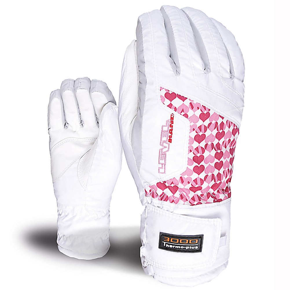 Ski Level Alpine Girls Gloves - Everyone wants there child to be warm on the slopes while mom and dad sit inside by a nice cozy fire. Cozy is what you will find in the Level Alpine Junior Gloves, with a soft Thermoliner Insulation warming their hands. Designed to be less bulky than high-loft insulation, this blend of fibers have a great level of heat retention. The Membra-Therm Plus Membrane offers exceptional water-resistance and optimizes warmth and comfort by keeping the hands dry. The Alpine glove has a leather palm to protect the glove from excessive toe rope damage and for added grip. The Level Alpine Junior Glove will help your little one happy as they enjoy their time on the mountain even when the frigid winter temperatures roll in. . Removable Liner: No, Material: Leather Palm, Warranty: One Year, Battery Heated: No, Race: No, Type: Glove, Use: Ski/Snowboard, Wristguards: No, Outer Material: Nylon, Waterproof: No, Breathable: No, Pipe Glove: No, Cuff Style: Under the cuff, Down Filled: No, Touch Screen Capable: No, Model Year: 2013, Product ID: 290997 - $40.00
