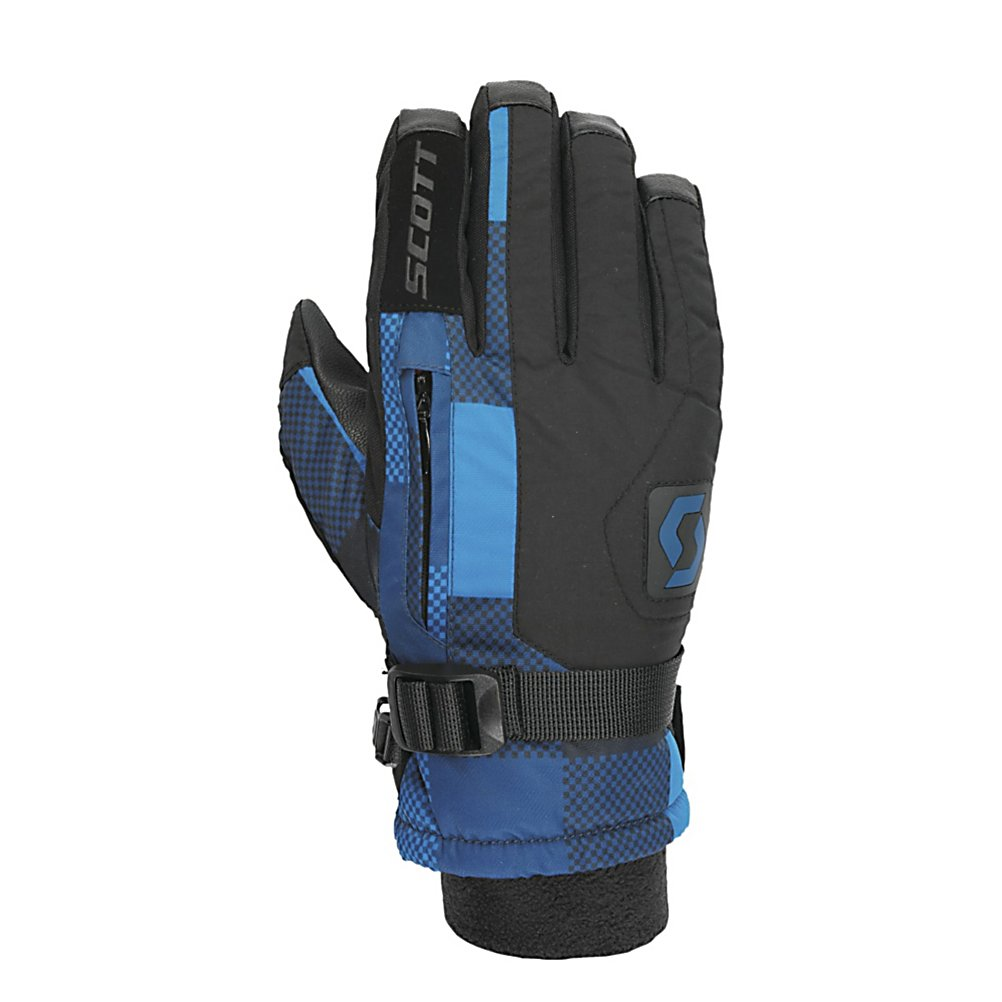 Ski Scott Gripper Kids Gloves - The Scott Gripper gloves are where its at no matter if you want to rock them on the mountain or use them for everyday use. The Gripper is made with a softshell/nylon material and leather Toughtek palm. Filled with Thermolite insulation and a soft fleece lining the Gripper is very warm and will keep your hands toasty warm no matter how cold things get. The soft fleece wrist keeps the gripper comfy and the stash pocket allows you to store a little something in your glove. Features: Hipora waterproof insert. Removable Liner: No, Material: Softshell/Nylon, Warranty: One Year, Battery Heated: No, Race: No, Type: Glove, Use: Ski/Snowboard, Wristguards: No, Outer Material: Softshell, Waterproof: Yes, Breathable: No, Pipe Glove: No, Cuff Style: Under the cuff, Down Filled: No, Touch Screen Capable: No, Model Year: 2013, Product ID: 296227 - $45.00