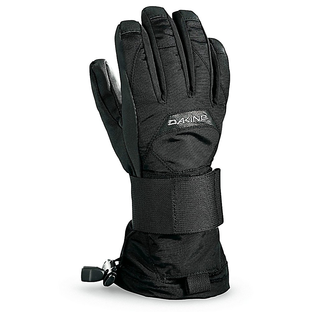 Snowboard Dakine Nova Wristguard Kids Gloves - Hit the slopes with the proper amount of protection with the Dakine Nova Wristguard Gloves. They just don't help combat the cold and the snow from penetrating your gloves, they also protect your wrists in the event that you take a spill or hit something that could ruin your day. Equipped with a waterproof and windproof insert, your hands will be protected against the moisture seeping in or howling winds beating against your gloves. The high loft insulation not only resists moisture but helps trap heat inside the gloves so that your fingers can remain cozy and warm throughout the day. A Polyurethane Palm ensures a steady grip on the ski poles or board. There's a lot of obstacles in the park and the pipe so don't let miscalculated jump ruin your snowboard or ski season, grab a pair of the Dakine Nova Wristguard Gloves and keep yourself covered. Features: Lightweight Internal Aluminum Stay on Palm. Removable Liner: No, Material: Nylon/Poly with DWR Treatment, Warranty: Lifetime, Battery Heated: No, Race: No, Type: Glove, Use: Ski/Snowboard, Wristguards: Yes, Outer Material: Nylon, Waterproof: Yes, Breathable: Yes, Pipe Glove: No, Cuff Style: Over the cuff, Down Filled: No, Touch Screen Capable: No, Model Year: 2012, Product ID: 273555 - $50.00