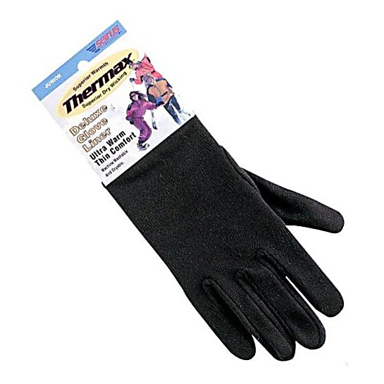 Ski Seirus' Deluxe Thermal Glove Liners create an extra layer of warmth to boost the performance of your winter gloves. The milled Thermax fabric is specifically designed to enhance both comfort and keep the moisture away with the moisture wicking feature. Lightweight yet warm, Thermax glove liners keep your hands warm even if wet. Great for skiing, biking or any active outdoor sport.  Maximum dry, wicking comfort,  Cut and sewn, form fitting construction,  Best Fit,  GTIN: 0090897207118, Model Number: 2110.0.0011, Product ID: 147368, Model Year: 2017, Glove/Mitten Insulation: Synthetic, Glove Weather Condition: Spring, Glove Quality: Better, Down Filled: No, Cuff Style: Under the cuff, Pipe Glove: No, Breathable: No, Waterproof: No, Glove Outer Fabric: Synthetic, Wristguards: No, Use: Liner, Type: Glove, Race: No, Battery Heated: No, Warranty: One Year, Material: Thin, ultra warm THERMAX, Removable Liner: Yes - $14.95