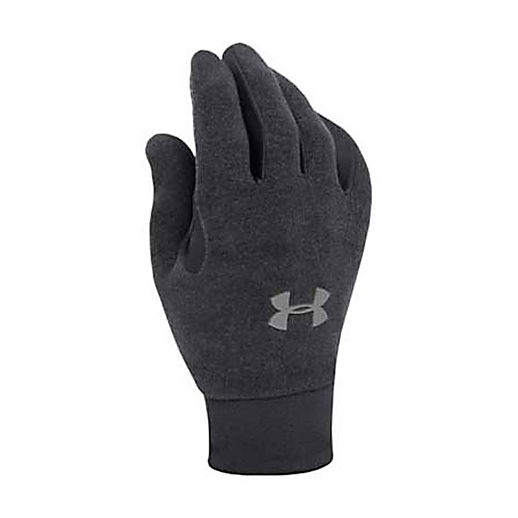 Ski Under Armour Stretch Glove Liners - Mens 2011 - The men's Under Armour Stretch Glove Liners provide a great form fitted base layer without the bulk. An added feature is the fantastic grip along the palm lining to help you actually hang onto whatever you desire. They are highly resistant to wind and water so they will keep you warm in cooler climate where you may come into contact with some moisture. The face is made of durable nylon with four way stretch for maximum strength and flexibility, so you truly get the best of both worlds. Your backhand will be super soft with the fleece lining to help keep a little more heat in than most glove liners. . Removable Liner: No, Material: Nylon and Fleece, Warranty: One Year, Battery Heated: No, Race: No, Type: Glove, Use: Liner, Wristguards: No, Outer Material: Nylon, Waterproof: Yes, Breathable: No, Pipe Glove: No, Cuff Style: Under the cuff, Down Filled: No, Model Year: 2013, Product ID: 170124 - $29.95