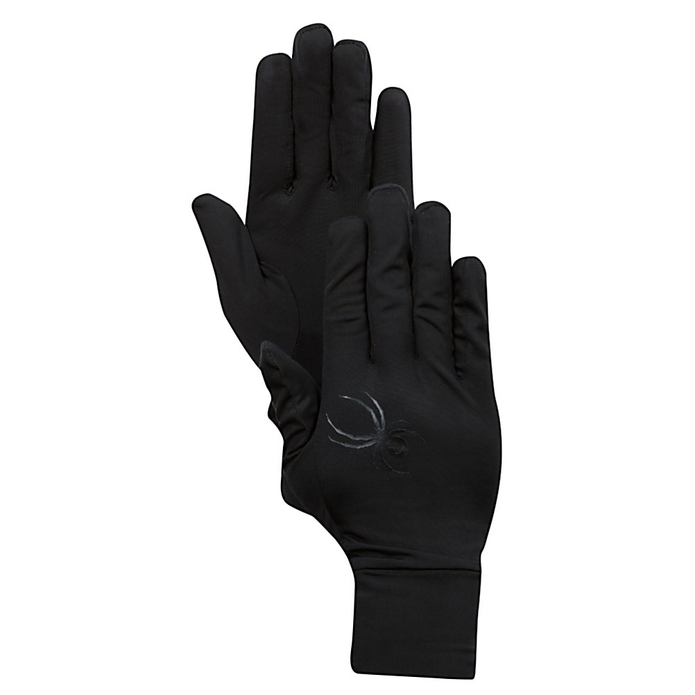 Ski Spyder Compact Glove Liners - The Spyder Compact Glove Liners will keep your hands extra warm on the coldest of days. Your hands will feel super comfortable with the anti-pilling fleece on the back side of the glove liners. To help keep your hands dry these liners are made with moisture wicking properties. . Removable Liner: No, Material: Power Stretch Jersey Knit Face with Anti-Pilling Fleece on back side, Warranty: Lifetime, Battery Heated: No, Race: No, Type: Glove, Use: Liner, Wristguards: No, Outer Material: Fleece, Waterproof: No, Breathable: No, Pipe Glove: No, Cuff Style: Under the cuff, Down Filled: No, Model Year: 2013, Product ID: 288278 - $20.00
