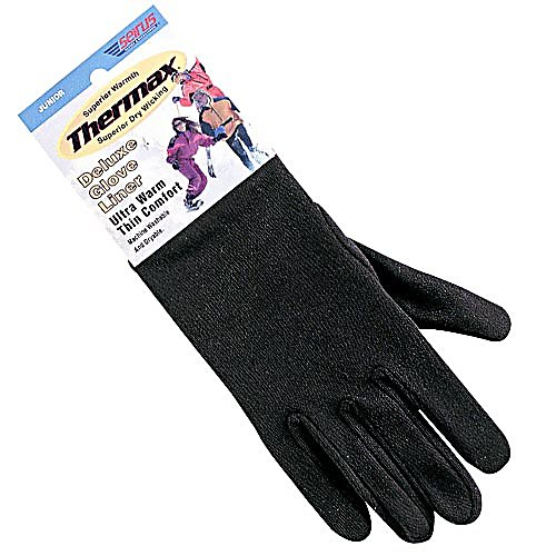 Ski Seirus' Deluxe Thermal Glove Liners create an extra layer of warmth to boost the performance of your winter gloves. The milled Thermax fabric is specifically designed to enhance both comfort and keep the moisture away with the moisture wicking feature. Lightweight yet warm, Thermax glove liners keep your hands warm even if wet. Great for skiing, biking or any active outdoor sport.  Cut and sewn, form fitting construction,  Best Fit,  GTIN: 0090897207217, Model Number: 2110.0.0012, Product ID: 95713, Model Year: 2017, Glove/Mitten Insulation: None, Glove Weather Condition: Spring, Glove Quality: Good, Touch Screen Capable: No, Down Filled: No, Cuff Style: Under the cuff, Pipe Glove: No, Breathable: No, Waterproof: No, Glove Outer Fabric: Nylon, Wristguards: No, Use: Liner, Type: Glove Liner, Race: No, Battery Heated: No, Warranty: One Year, Material: Thin, ultra-warm THERMAX, Removable Liner: Yes - $14.95