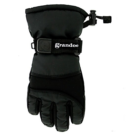 Ski Grandoe Grasshopper Toddlers Gloves - The Grasshopper is a toddler ski glove with all of the features of an adult ski glove, but sized down perfectly to accommodate even the youngest of beginners. The Grasshopper has a MicroPlus outer shell to provide some water relief. With Micro ThermaDry insulation which is a high loft insulation that allows you to stay warm no matter how cold outside or how wet the gloves get. Your little one will love you even more if you get this glove for them. . Removable Liner: No, Material: MicroPlus and Stretch Soft Shell, Warranty: Other, Battery Heated: No, Race: No, Type: Glove, Use: Ski/Snowboard, Wristguards: No, Outer Material: Softshell, Waterproof: No, Breathable: No, Pipe Glove: No, Cuff Style: Over the cuff, Down Filled: No, Model Year: 2012, Product ID: 196968 - $19.99