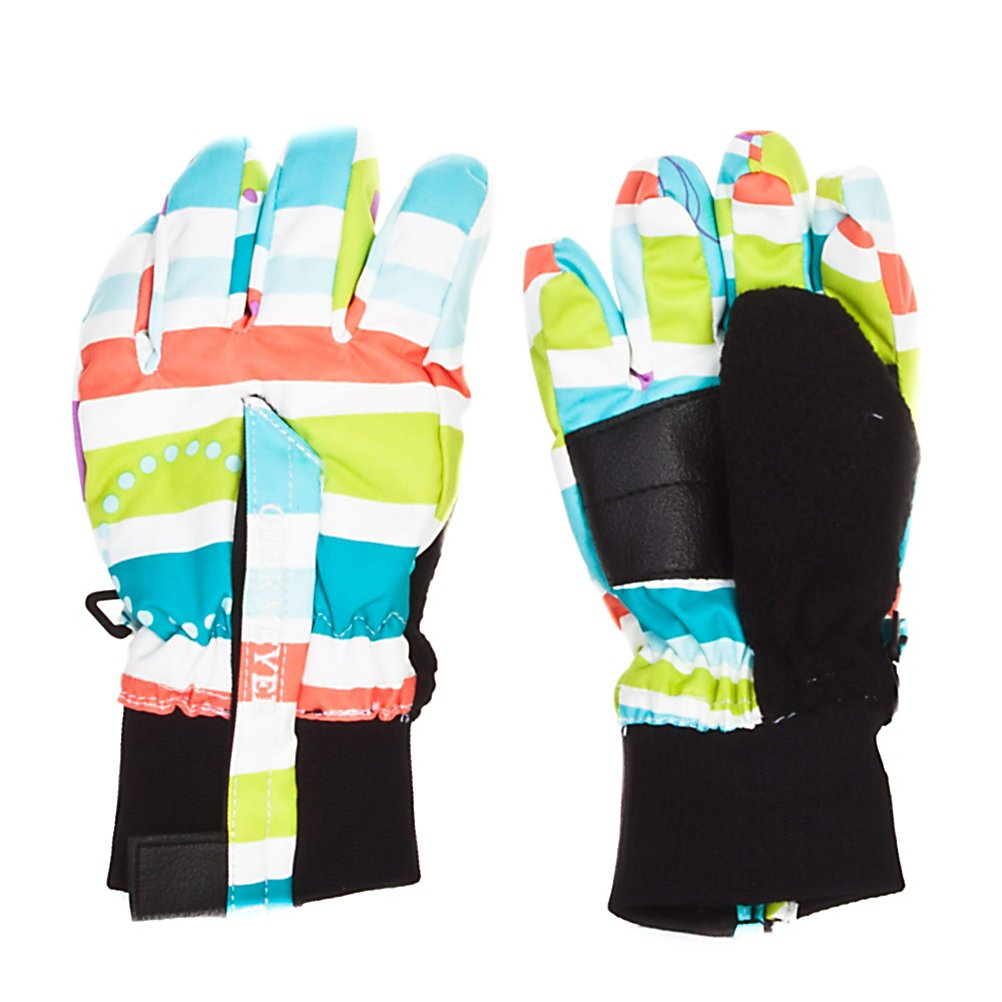 Ski Obermeyer Thumbs Up G Toddler Girls Gloves - The Obermeyer Thumbs Up Girls Gloves will surely get your approval. It has a Velcro closure, so it is easy to get the gloves on and off of those girls who are always in a hurry. The Thumbs Up gloves are insulated with Permaloft, which is a non-compactable thermal fiber that adjusts with the body's position without restricting movement. Permaloft is extremely soft, lightweight, completely water-resistant and is considered one of the best insulators with a superior warmth-to-weight ratio. Thumbs Up gloves will definitely make you girl happy and warm. Features: Spot clean only. Removable Liner: No, Material: Polyester, Warranty: Lifetime, Battery Heated: No, Race: No, Type: Glove, Use: Ski/Snowboard, Wristguards: No, Outer Material: Softshell, Waterproof: No, Breathable: Yes, Pipe Glove: No, Cuff Style: Under the cuff, Down Filled: No, Model Year: 2012, Product ID: 236114 - $13.95