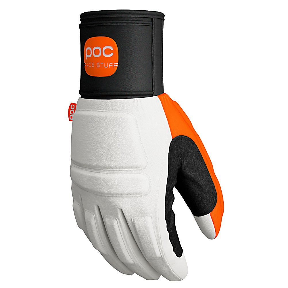 Ski POC Palm Comp VPD Race Adult Ski Racing Gloves - For ski racers, protection is key. The Palm Comp VPD Race Gloves by POC are comfortable, flexible race gloves with a high degree of protection. This astonishing glove is created with a protective neoprene cuff guard that can be integrated with POC's new forearm protector. Because hitting the gate is common in ski racing, the Palm Comp VPD is equipped with a specially made thumb that helps to reduce injuries. There is also a protective sandwich construction that incorporates shock abrasion and VPD material. These adult ski race gloves are made of high quality goat leather along with external seams for increased comfort and optimal grip. For the best insulation, creating safety and warmth, they are equipped with Thinsulate. The Palm Comp VPD gloves are offered to you straight from the POC Race Stuff line. These are top notch items created with ski racing adventures in mind. . Warranty: One Year, Battery Heated: No, Wristguards: No, Touch Screen Capable: No, Model Year: 2011, Product ID: 202212, Category: Race, Down Filled: No, Pipe Glove: No, Breathable: No, Waterproof: No, Outer Material: Leather, Use: Ski/Snowboard, Type: Glove, Race: Yes, Material: Goat Leather with Kevlar fabric reinforcement, Removable Liner: No, Cuff Style: Under the cuff - $74.97