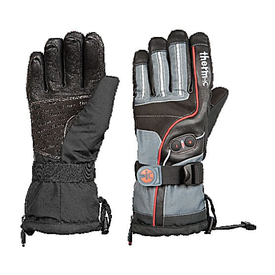 Ski Therm-ic PowerGloves ic 2600 Heated Ski Gloves - Cold hands will never be a problem again when you purchase the Therm-ic PowerGloves ic 2600 gloves. You will have everything you need to keep your hands warm this winter with the PowerGloves. The heatable gloves by Therm-ic with their smart high-tech interior deliver cozy warmth all the way to your finger tips. The heating elements are integrated into the fingers and there are three different heat levels to choose from. Easy to change, the settings with the plus/minus buttons on the back of the hand. Exchangeable, powerful and extremely handy lithium ion batteries provide comfortable warmth for up to 10 hours, while guaranteeing maximal mobility of your fingers. Your hands and fingers will thank you for buying the PowerGloves ic 2600 gloves. . Removable Liner: No, Material: Nylon and Leather, Warranty: Other, Battery Heated: Yes, Race: No, Type: Glove, Use: Ski/Snowboard, Wristguards: No, Outer Material: Nylon, Waterproof: No, Breathable: Yes, Cuff Style: Over the cuff, Down Filled: No, Touch Screen Capable: No, Model Year: 2012, Product ID: 248557 - $399.95