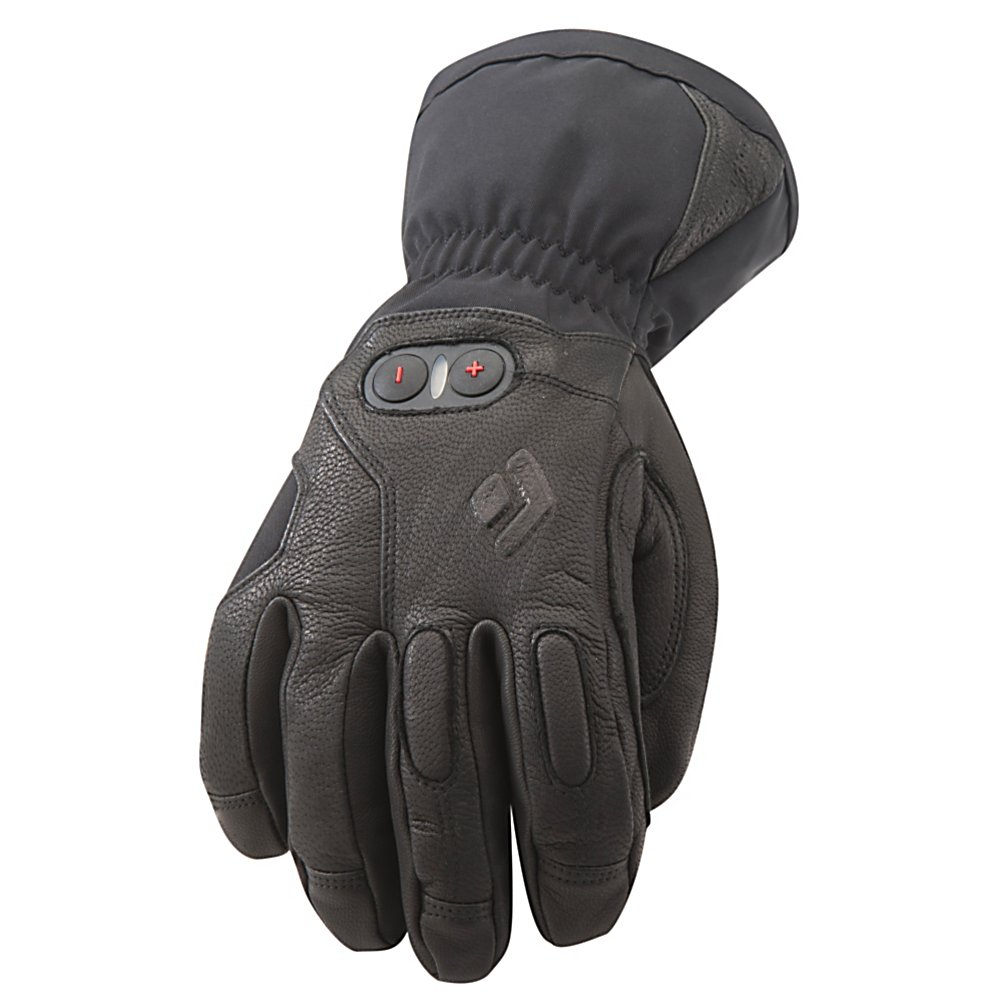 Ski Black Diamond Cayenne Heated Ski Gloves - No one wants cold hands when they're skiing, so whether its frigid temperatures or you're just prone to chilly fingers, the Black Diamond Cayenne Ski Gloves will keep your hands very warm and comfortable. This battery-heated glove utilizes a Therm-ic 3-Level Heating System so you can set a temperature range based on the outside temperature and the feeling inside your gloves. The Gore-Tex Insert between the Insulation and the exterior is 100% waterproof and breathable so your hands can remain comfortable and dry all day. Abrasion-Resistant Leather and a Woven Nylon with 4-Way Stretch offers a durable and reliable barrier against the outside wintry elements while also providing a solid grip and mobility. You'll also have the high-performance PrimaLoft Insulation keeping you warm when the heating system is off. It's a lightweight insulation with superior water-resistance. The Black Diamond Cayenne Ski Gloves will ensure toasty warm hands on those freezing cold winter days so you can enjoy your time on the mountain. Features: Includes Lithium-Polymer Batteries and Charger. Bearing Grade: High Performance, Warranty: One Year, Model Year: 2013, Product ID: 276713, Model Number: BD801476BLAKSM_1, GTIN: 0793661168652, Touch Screen Capable: No, Down Filled: No, Cuff Style: Over the cuff, Pipe Glove: No, Breathable: Yes, Waterproof: Yes, Outer Material: Nylon, Wristguards: No, Use: Ski/Snowboard, Type: Glove, Race: No, Battery Heated: Yes, Material: Abrasion-Resistant Leather and Woven - $399.00