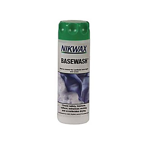 Ski Nikwax Base Wash - Nikwax BaseWash is a new product created specially for cleaning synthetic base-layers. It enhances the fabrics wicking properties, stopping them from stinking and helping them dry more quickly. . Model Year: 2013, Product ID: 174209 - $5.50