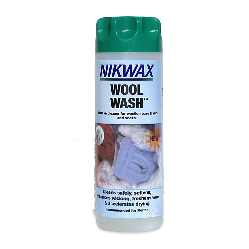 Ski The Nikwax Wool Wash is a gentle cleaner that will remove grime and odors from your favorite clothes.  This cleaner is ideal for wool base layers and socks as well as high-content merino wool items.  This cleaner from Nikwax will restore wool's ability to wick away moisture and regulate temperature.  The Nikwax Wool Wash is a water based formula that is environmentally friendly.  Nikwax is a global leader in safe, high performance waterproofing, cleaning and condition for outdoor gear. Nikwax aftercare products have been PFC free since 1977.  Gentle cleaner removes grime and odors,  Ideal for wool base layers and socks, including high-content merino wool items,  Restores the wool's natural ability to wick moisture and regulate temperature,  Top-load and front-load washing machine compatible. Great for hand wash applications too,  WaterBased formula is environmentally friendly,  PFC Free,  GTIN: 0703861002526, Model Number: 131 10OZ, Product ID: 257062, Model Year: 2017 - $11.00