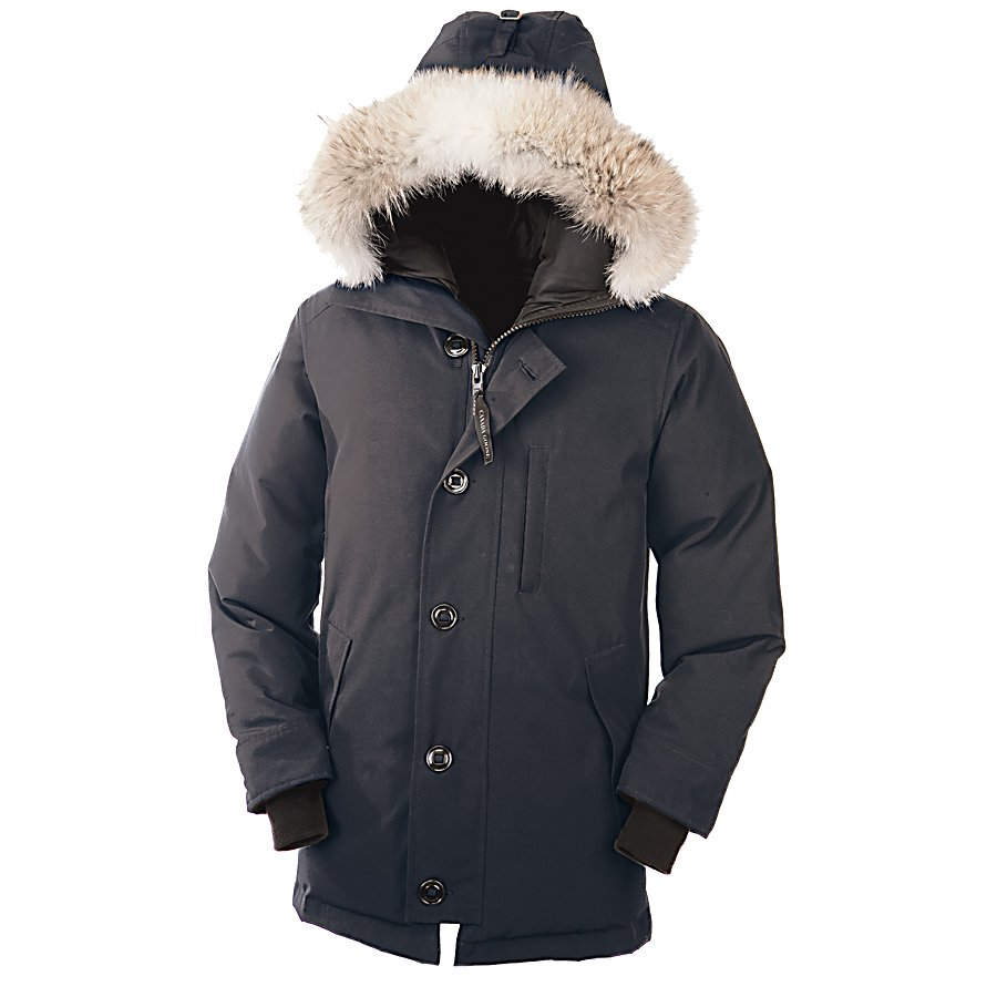 Entertainment Canada Goose Chateau Parka Mens Jacket - Stay warm in the extreme cold with the Canada Goose Chateau Parka. This parka is made with a Polyester/Cotton blend with a DWR finish for added protection against the wintry precipitation that you may encounter when you step outdoors. With its mid-thigh length you'll have plenty of protection and coverage against the cold and, with an adjustable down hood with removable coyote fur ruff, you'll have added protection for when the winds kick up and you want to stay warm. Heavy duty YKK Zippers and a center front storm flap you can expect to keep the cold from penetrating this jacket. There are quite a few pockets including two fleece lined handwarmer pockets to keep warm as well as to hold the items you want close by. The Canada Goose Chateau Parka a simple and classic looking jacket that ensures you are warm in temperatures that dip down to negative 25 degrees. Features: One Interior Drop-In Pocket, Fill Power White Duck Down. Wind Protection: No, Cinch Cord Bottom: No, Insulator: No, Model Year: 2014, Product ID: 291084, Waterproof Zippers: No, Wrist Gaiter: No, Cuff Type: Elastic, Breathability: Not Specified, Waterproof: Not Specified, Insulation Type: Down, Length: Medium, Cut: Slim, Type: Insulated, Race: No, Battery Heated: No, Use: Outdoor, Warranty: Lifetime, Hood: Yes, Powder Skirt: No, Goggle/Sunglasses Pocket: No, Electronics Pocket: No, Pockets: 4-5, Pit Zip Venting: No, Breathability Rating: N/A, Waterproof Rating: N/A, Taped Seams: None, Insulation Weight: 625 Gra - $815.00