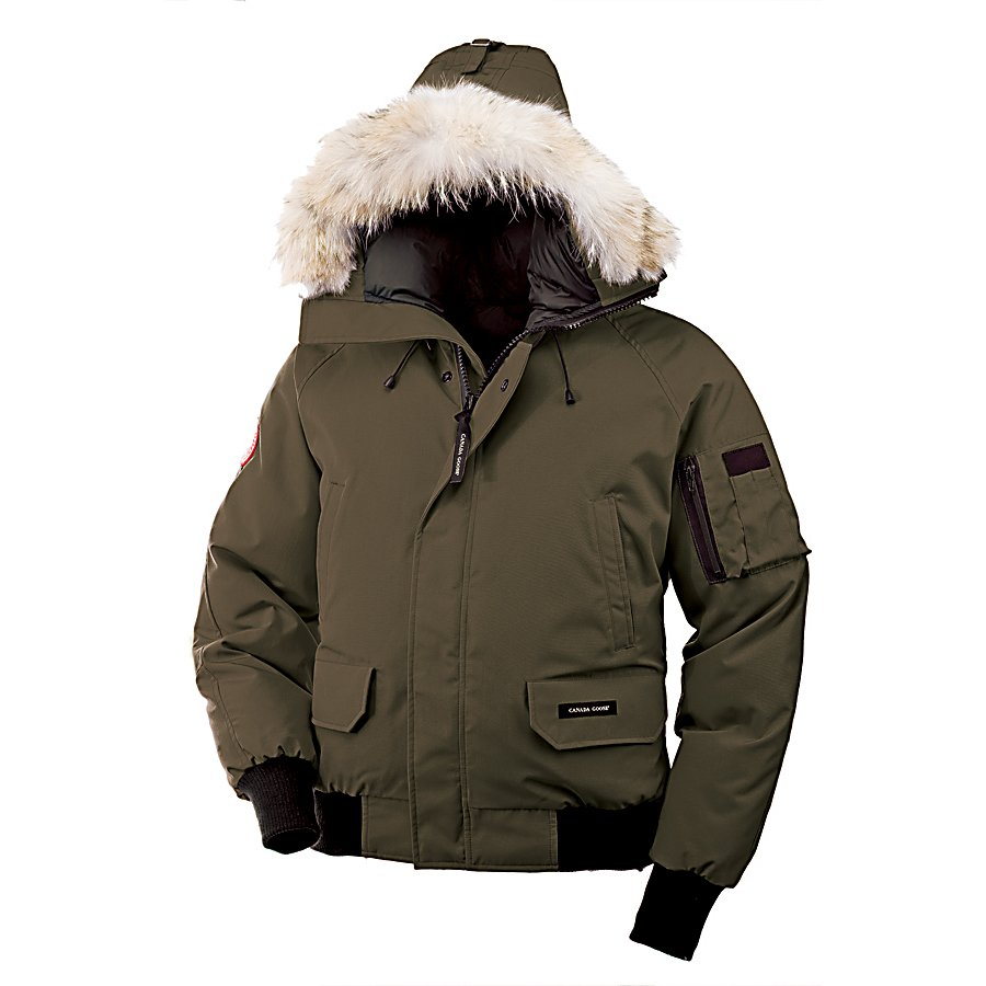 Ski Canada Goose Chilliwack Bomber Mens Jacket - Stay warm and look good this cold season with the Canada Goose Chilliwack Bomber Jacket. It's made with Arctic-Tech which ensures that the cold stays out and the warmth stays in. With the help of the White Duck Down, you'll have the heat remaining trapped inside so that you are comfortable in temperatures reaching 20 degrees below zero. The hood 2-way adjustable which boasts coyote fur ruff and an adjustable bracing wire for protection when those frigid winds start to fiercely howl. You'll have heavy-duty center YKK 2-way locking zippers to keep you bundled up as well as a Velcro storm flap that keeps it covered. There are plenty of pockets for you to keep some items close by and two fleece-lined high-hand warmer pockets to keep those fingers warm. With its Coyote Fur Ruff on the hood and cool bomber-style design, the Canada Goose Chilliwack Bomber Jacket you'll love the style as much as you love staying warm in frigid temperatures. Features: 2 x Lower Pockets with Fleece Lining, Utility Pocket, Interior Security Pocket. Taped Seams: None, Pit Zip Venting: No, Pockets: 6-7, Electronics Pocket: No, Goggle Pocket: No, Powder Skirt: No, Hood: Yes, Warranty: Lifetime, Waterproof: Water Resistant (1000mm), Breathability: Not Specified, Cuff Type: Elastic, Wrist Gaiter: No, Waterproof Zippers: No, Cinch Cord Bottom: No, Insulator: No, Model Year: 2013, Product ID: 291099, Insulation Type: Down, Length: Short, Cut: Regular, Type: Insulated, Race: No, Battery Heated: No, Use: Outdoor - $475.99