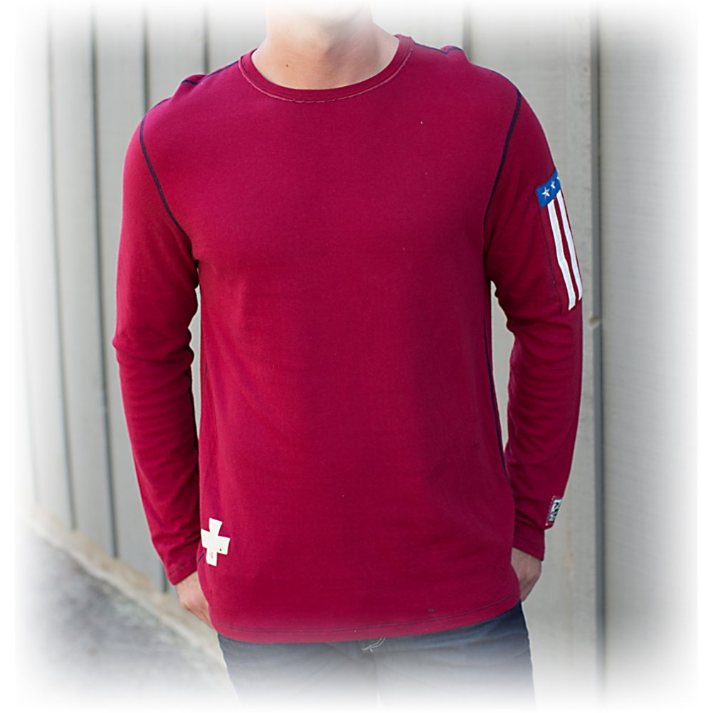 Ski Alp-n-Rock Ski USA Long Sleeve T-Shirt - The Alp-n-Rock Ski USA Tee for men sets the tone for a sweet ride in amazing comfort. Adding awesome detail to this extraordinary tee makes for every casual look - very cool and trendy. A ride down the slopes in your Alp-n-Rock Tee adds a bit more warmth when layered under your jacket, when relaxed at the lodge you will be rocked out in a original tee that sets you apart from the ordinary. . Warranty: Other, Battery Heated: No, Model Year: 2013, Product ID: 274303, Model Number: MTN0000031 GAR 1, Water Resistant: No, Sleeve Type: Long Sleeve, Wicking Properties: No, Material: Cotton, Type: T-Shirt, Wind Protection: No, Closure Type: Pull Over, Category: Light-Weight, Material: Cotton blend - $69.92