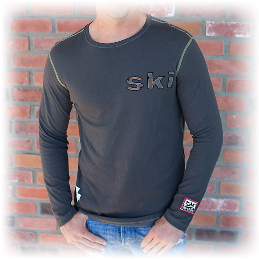 Ski Alp-n-Rock High Altitude Long Sleeve T-Shirt - The Alp-n-Rock High Altitude Long Sleeve Tee sets the tone for an extra layer when on the slopes and a current trendy look when worn as casual attire. The High Altitude Tee makes a statement, this is not you plain tee, step out of the box and wear a tee that looks great on with an original appeal. The quality and durability stands out in Alp-n-Rock apparel - this tee will with stand hard abuse of many times wearing it and hold up to its awesome appearance. . Material: Cotton blend, Category: Light-Weight, Bearing Grade: High Performance, Warranty: Other, Battery Heated: No, Closure Type: Pull Over, Wind Protection: No, Type: T-Shirt, Material: Cotton, Wicking Properties: No, Sleeve Type: Long Sleeve, Water Resistant: No, Model Year: 2013, Product ID: 274307, Model Number: MTN0000032 CHA 1 - $59.92