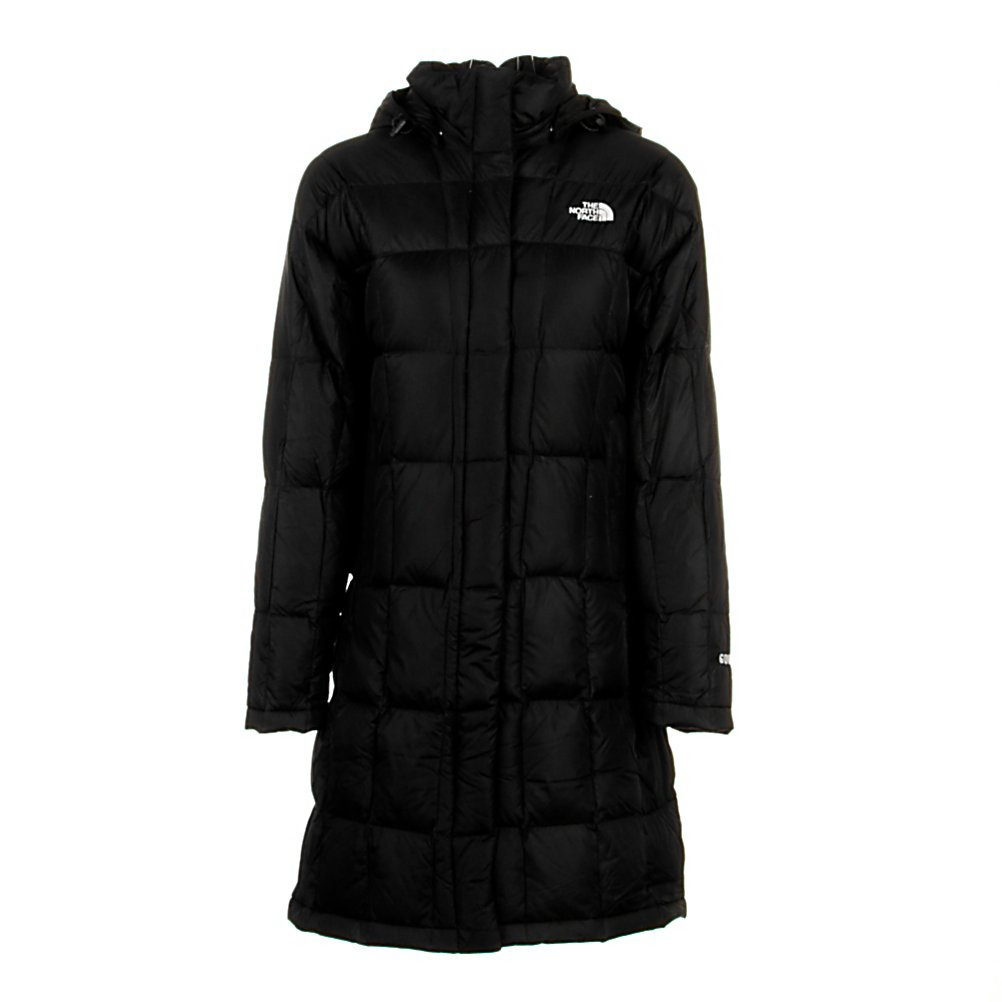 Ski The North Face Metropolis Parka Womens Jacket - When the weather gets bone chilling cold you are going to want to stay toasty warm. With that in mind The North Face has created the Metropolis Parka. This jacket keeps you wrapped in 600 Fill Down insulation to keep you toasty warm in even the coldest of conditions. This jacket is lightweight and will slide comfortably over whatever clothing you put on and features a DWR finish that will repel snow and water to keep you dry as well. The insulated adjustable hood will retain body heat and keep your head protected from the elements and should the weather not call for a hood simply un-snap it and leave it at home. This jackets has a longer length and features a brushed chin guard lining to keep you comfy when all zipped up. An internal media pocket will store your favorite MP3 player so you can jam and two zippered handwarmer pockets will keep your hands toasty warm or can be used as storage for some small accessories that you may need. The North Face Metropolis Parka will keep you warm, dry and comfortable when wrapped around you. Features: Embroidered Logo at Left Chest and Back Right Shoulder. Exterior Material: Nylon Taffeta with DWR, Insulation Weight: 600 Fill Down, Taped Seams: None, Waterproof Rating: DWR Treatment, Breathability Rating: N/A, Pit Zip Venting: No, Pockets: 1-3, Electronics Pocket: Yes, Goggle/Sunglasses Pocket: No, Powder Skirt: No, Hood: Yes, Warranty: Lifetime, Use: Street, Battery Heated: No, Race: No, Type: Insulated, Cut: Regular, Length: Long, Insu - $229.95