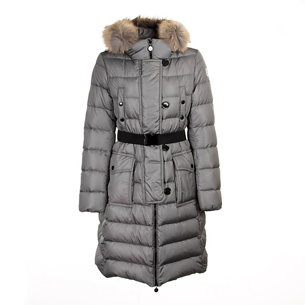 Ski Moncler Genevrier Womens Jacket - The Moncler Genevrier is the ultimate in luxury outerwear. The Genevrier jacket is a belted coat that will see you through the winter months in style. A practical yet sophisticated option, this look-at-me quilted jacket will be sure to make a statement on and off the slopes. The Moncler Genevrier Jacket is a simple, natural, elegant design for all your casual events. Moncler is known to bring you amazing fashion and charming details - packaged for you in a delicate design. The quality and unique look of The Genevrier is brought to you by the international brand image of Moncler - the name alone makes a statement above and beyond most. . Taped Seams: Critically Taped, Warranty: Other, Battery Heated: No, Race: No, Cut: Regular, Length: Long, Model Year: 2013, Product ID: 290713, Insulator: No, Cinch Cord Bottom: No, Wrist Gaiter: No, Cuff Type: Elastic, Insulation Type: Down, Type: Insulated, Use: Outdoor, Hood: Yes, Pockets: 1-3, Pit Zip Venting: No, Exterior Material: Nylon - $1,219.99