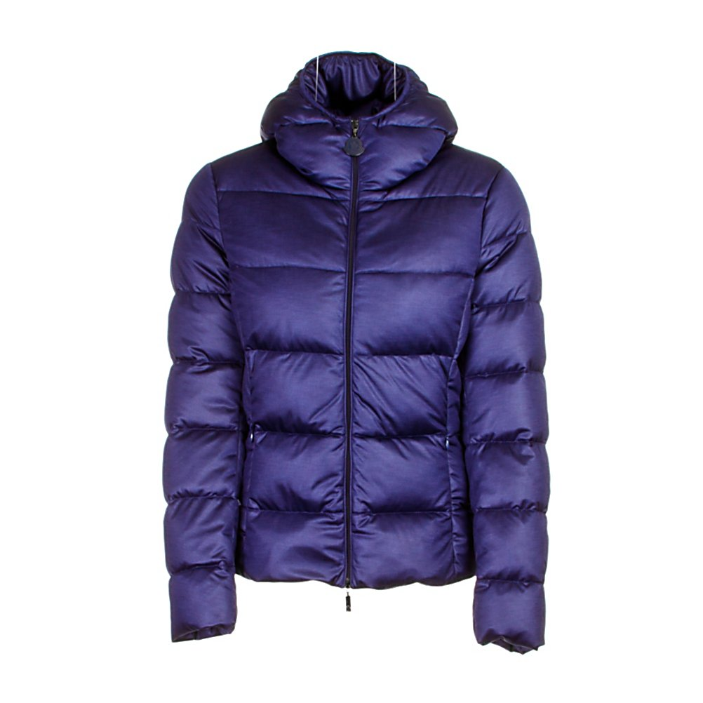 Ski Moncler Jersey Womens Jacket - The Moncler Jersey Jacket uses a stretch jersey fabric to create this amazing look. Moncler was the first company to use a knitted fabric for its down jackets and what a creation it has become. The cushioned hood with a ruching trim adds detail as it brings on more warmth. The Jersey padded jacket from Moncler features a funnel neck, front zip fastening and a classic quilted look. Moncler has become famous for its quilted jackets, ski and outdoor-wear. Made from duck down, this collection is warm, lightweight and offers complete comfort. . Exterior Material: Techno fabric, Insulation Weight: Not Specified, Taped Seams: Critically Taped, Waterproof Rating: N/A, Breathability Rating: N/A, Pockets: 1-3, Hood: Yes, Warranty: Other, Use: Ski, Battery Heated: No, Race: No, Type: Insulated, Cut: Regular, Length: Short, Insulation Type: Down, Waterproof: Not Specified, Breathability: Not Specified, Cuff Type: Elastic, Wrist Gaiter: No, Waterproof Zippers: No, Wind Protection: No, Model Year: 2013, Product ID: 290739 - $799.95