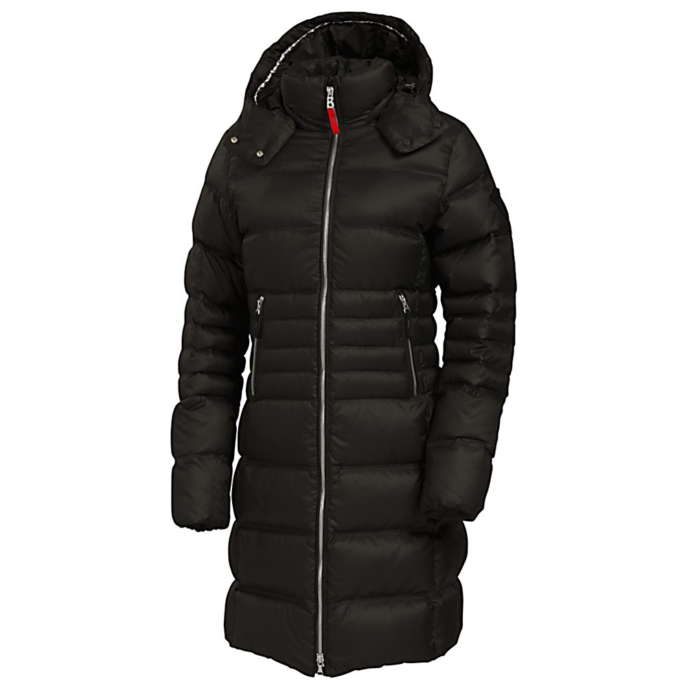 Ski Bogner Fire + Ice Filipa-D Womens Jacket - Looking for the perfect winter jacket with style and flair? The Filipa D from Bogner has the length, shape, and all the features in a down jacket you're looking for! This winter dream features a longer length and feminine cut that flatters any body type. Any woman gearing up for a cold winter would love the Fire and Ice Filipa-D Down Jacket. First of all, long down jackets are at the peak of fashion; secondly, Fire and Ice does it better. The Filipa-D is a high-end jacket from its beautiful fabric to it's feminine fit. The quilting has a vertical chevron design that keeps the insulation balanced and in place and also creates a slimming effect. Design and stitching add the final luxurious details allowing you to put this jacket on and really keep in the warmth. Heads will turn as you stroll by rockin the Bogner Filipa-D Jacket. . Taped Seams: None, Breathability Rating: N/A, Warranty: Lifetime, Breathability: Not Specified, Waterproof Zippers: No, Wind Protection: No, Model Year: 2013, Product ID: 290808, Insulator: No, Cinch Cord Bottom: No, Wrist Gaiter: No, Cuff Type: None, Waterproof: Not Specified, Insulation Type: Down, Length: Long, Cut: Slim, Type: Insulated, Race: No, Battery Heated: No, Use: Street, Hood: Yes, Powder Skirt: No, Goggle/Sunglasses Pocket: No, Electronics Pocket: No, Pockets: 1-3, Pit Zip Venting: No, Waterproof Rating: N/A, Insulation Weight: 520 Fill Power, Exterior Material: Polyester - $499.95