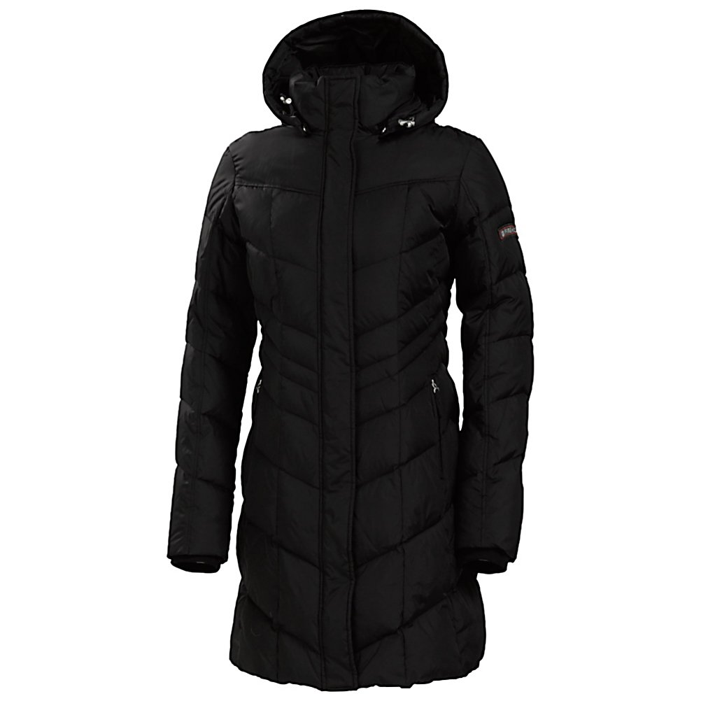 Ski Looking for the perfect winter jacket with style and flair? The Annie D from Bogner has the length, shape, and all the features in a down jacket you're looking for! This winter dream features a longer length and feminine cut that flatters any body type. Any woman gearing up for a cold winter would love the Fire and Ice Annie-D Down Jacket. First of all, long down jackets are at the peak of fashion; secondly, Fire and Ice does it better. The Annie-D is a high-end jacket from its beautiful fabric to it's feminine fit. The quilting has a vertical chevron design that keeps the insulation balanced and in place and also creates a slimming effect. Design and stitching add the final luxurious details allowing you to put this jacket on and really keep in the warmth.  Heads will turn as you stroll by rockin the Bogner Annie-D Jacket.  DWR finish to repel water,  Tightly woven polyester fabric,  Knit sleeve cuffs fit under gloves to keep out snow,  2-way zipper for easy venting,  Hits approximately at knee length,  Tailored fit,  Wind Protection is 4 layers of treated ski taffeta to protect against wind and water,  Wind Protection: Yes, Cinch Cord Bottom: No, Insulator: No, Warmth Factor: Warmer, How Does This Fit?: True To Size, Waterproof Zippers: No, Wrist Gaiter: No, Cuff Type: Elastic, Breathability: Not Specified, Waterproof: Water Resistant (< 5,000mm), Insulation Type: Down, Length: Medium, Jacket Fit: Slim, Type: Insulated, Race: No, Battery Heated: No, Use: Street, Warranty: Three Year, Hood: Yes, Powder Skirt: No, Goggle/Sunglasses Pocket: No, Electronics Pocket: No, Pockets: 1-3, Pit Zip Venting: No, Breathability Rating: Not Specified, Waterproof Rating: DWR coating, Taped Seams: None, Insulation Weight: 600g, Exterior Material: Polyester, Model Year: 2015, Product ID: 290845, Model Number: 3478 4012 026 4, GTIN: 4054352482393 - $599.00