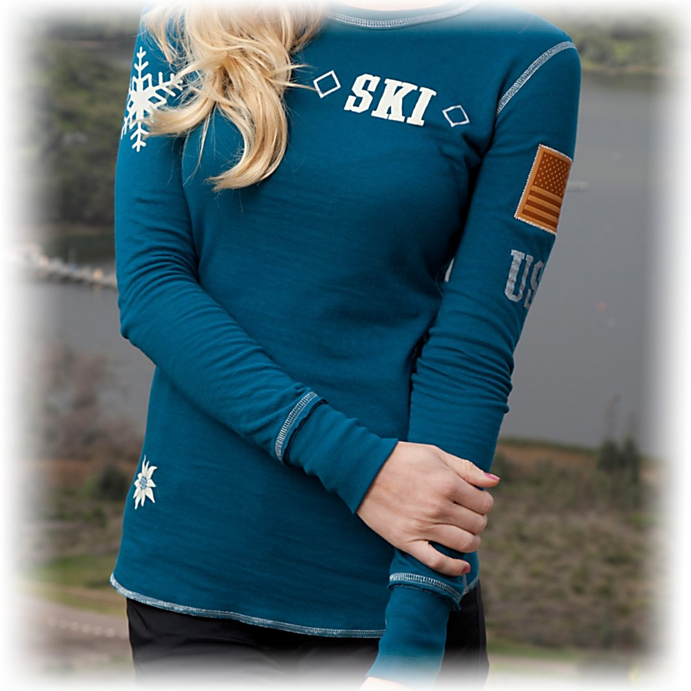 Ski Alp-n-Rock Alpine Mountain Club L/S RV 23 Womens T-Shirt - Alp-n-Rock gives you versatility with The Reversible Alpine Mountain Club Tee, two really awesome choices to where your mood will take you. The Alpine Mountain Club side of this tee has a sweet design and exquisite detailing, as the reverse side makes another statement with original artwork. The organic cotton blend fabric is so soft to the touch and the feel next to your skin. With two choices in one - of what to wear - your are good to go for any casual activity. . Material: Cotton blend, Category: Light-Weight, Warranty: Other, Battery Heated: No, Closure Type: Pull Over, Wind Protection: No, Type: T-Shirt, Material: Cotton, Wicking Properties: No, Sleeve Type: Long Sleeve, Water Resistant: No, Model Year: 2013, Product ID: 274281 - $129.95