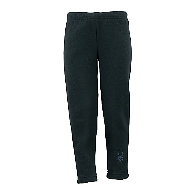 Ski Spyder Mini Momentum Fleece Kids Pants - The Spyder Mini Momentum Fleece Pants are great for layering when your child is starting off on the slopes. They are very warm and soft thanks to the 2-Sided Brushed Micro Fleece and extremely durable with its Anti-Pill Finish. In fact, once your child outgrows you can easily pass it on to the next little skier and expect the same durable and reliable coziness of the Momentum Fleece Pants. . Model Year: 2013, Product ID: 286694 - $29.00
