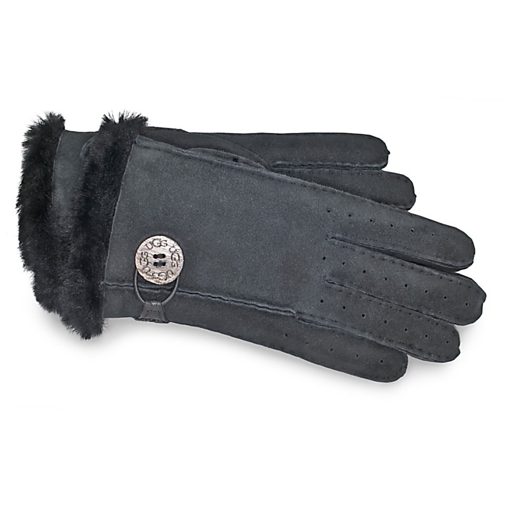 Ski UGG Australia Classic Bailey Gloves - Womens Womens Gloves - The Classic Bailey Gloves look just as they sound. The design of these gloves are classic with their chic sophistication. These gloves by UGG Australia are lined with genuine sheepskin and have shearling at the top for extra warmth and style. The Classic Bailey gloves also have a touch of flare with the button off to the side engraved with the UGG logo. Beautifully crafted and fashionable for the season, the UGG Classic Bailey Gloves will keep your hands cozy during the cold days of winter. . Removable Liner: No, Material: Suede, Warranty: One Year, Battery Heated: No, Race: No, Type: Glove, Use: Casual, Wristguards: No, Outer Material: Leather, Waterproof: No, Breathable: No, Pipe Glove: No, Cuff Style: Under the cuff, Down Filled: No, Touch Screen Capable: No, Model Year: 2013, Product ID: 176592 - $99.95