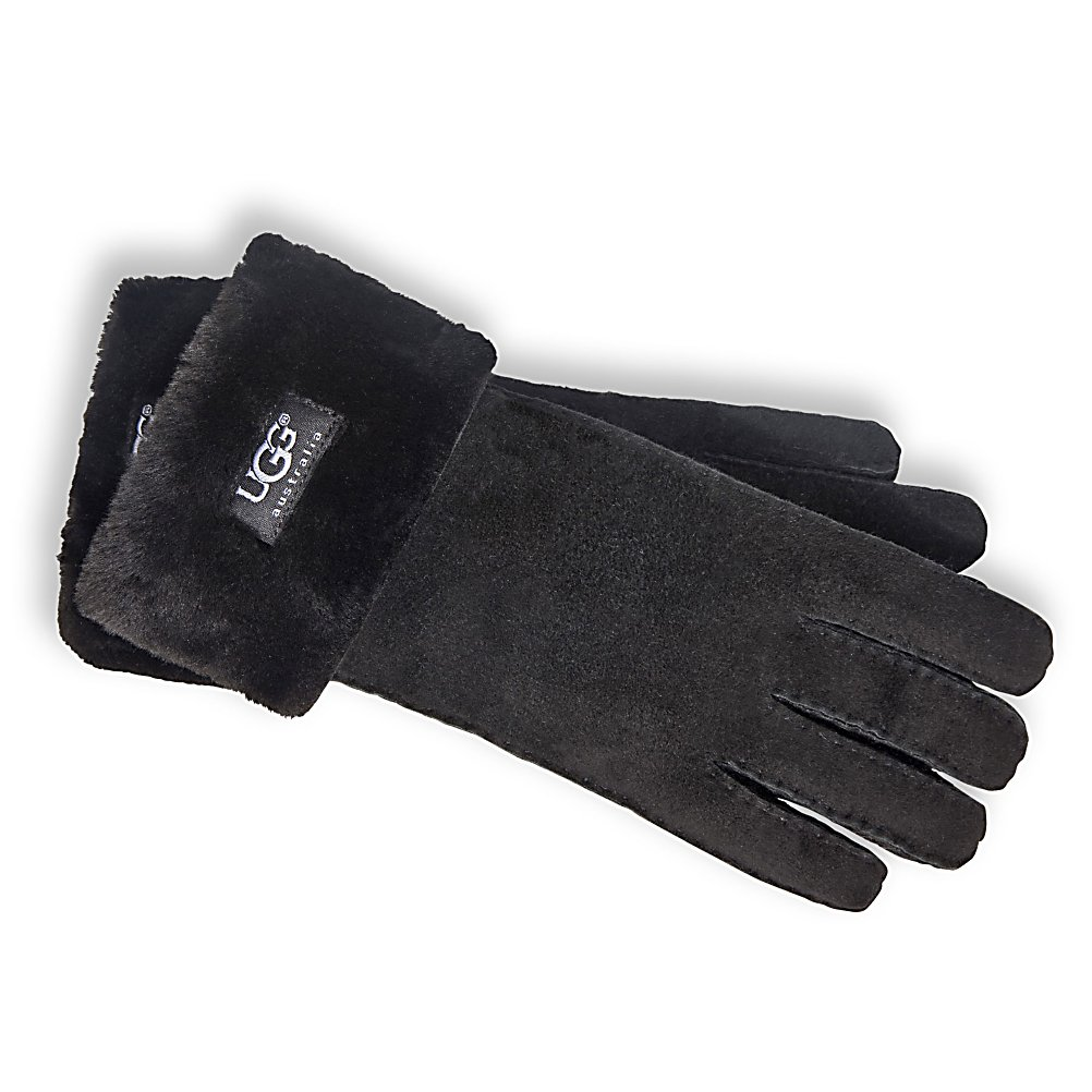 Ski The UGG Turn Cuff Gloves are designed with super soft sheepskin shearling that will keep your hands warm and toasty throughout the winter months.  The turn cuff with exposed shearling has the UGG tag revealed to show that you choose your styles with an eye for fashion and functionality.  Part of the UGG Collection, these classic UGG Turn Cuff Gloves are the ideal choice for when the temperatures drop.  100% Shearling Sheepskin,  Turn Cuff w Exposed Shearling,  Removable Liner: No, Material: Sheepskin shearling, Warranty: One Year, Battery Heated: No, Race: No, Type: Glove, Use: Casual, Wristguards: No, Glove Outer Fabric: Leather, Waterproof: No, Breathable: No, Pipe Glove: No, Cuff Style: Over the cuff, Down Filled: No, Touch Screen Capable: No, Glove Quality: Better, Glove Weather Condition: Average, Glove/Mitten Insulation: Synthetic, Model Year: 2017, Product ID: 207370, Model Number: 6740 200 S, GTIN: 0098617020030 - $154.95
