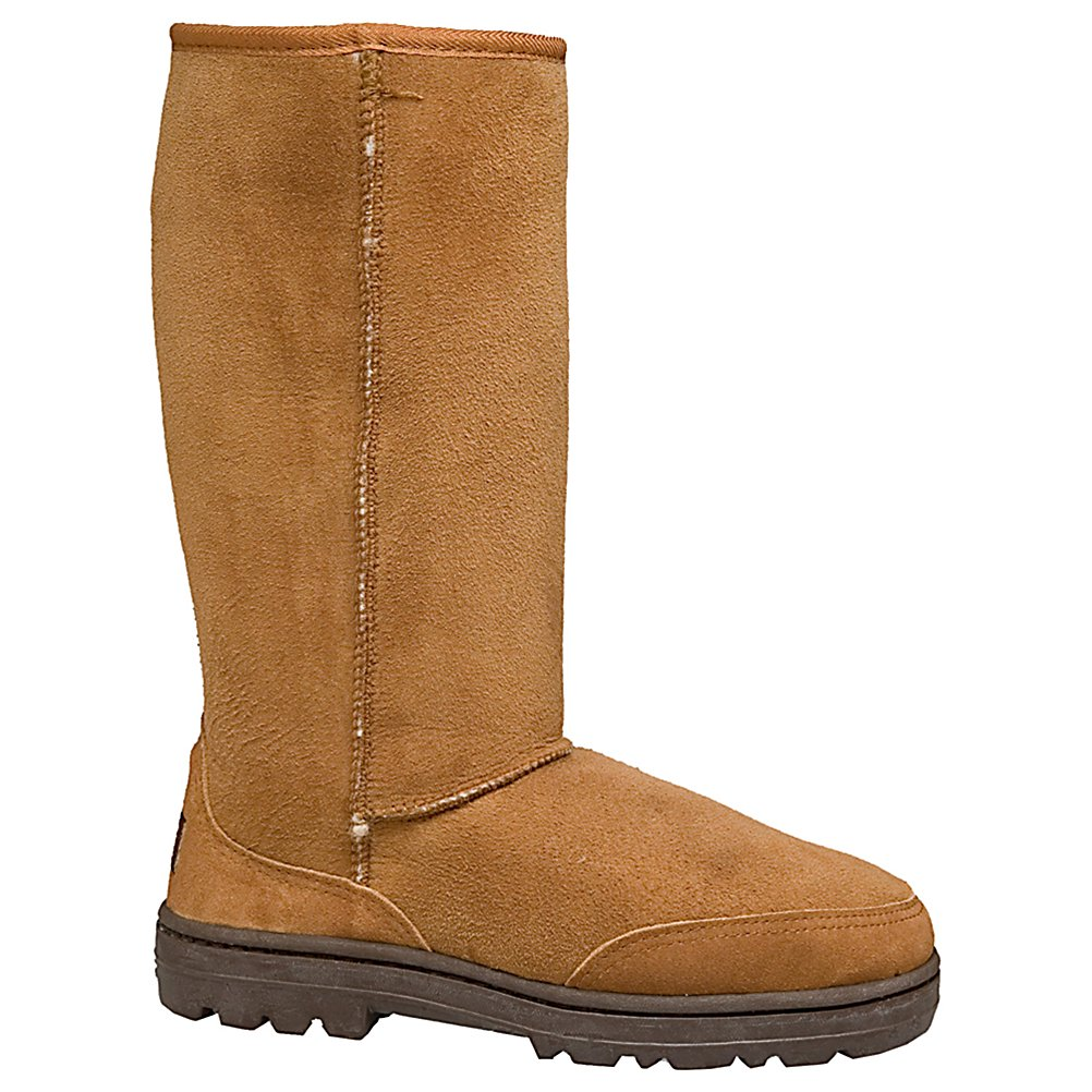 Ski UGG Australia Ultimate Tall Womens Boots - The Ultimate Tall Braid offers comfort and durability with twin-faced sheepskin and features a molded rubber outsole with traction and a suede heel guard. This boot features a removable/replaceable sheepskin insole as an added benefit. UGG Australia's heritage Tasman braid runs up the back of this boot as a unique detail. Ugg has designed this excellent pair of Ultimate Tall Boots that are very durable and will last for many seasons to come. . Warranty: One Year, Waterproof: No, Material: Twin-faced Sheepskin, Type: Boot, Insulated: No, Sole Material: Molded Rubber, Model Year: 2013, Product ID: 143956 - $295.00