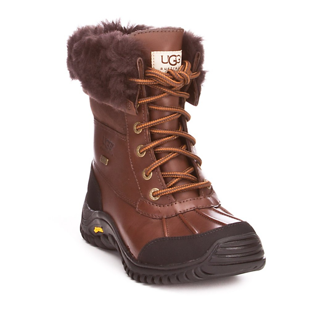 Ski UGG Australia Adirondack II Womens Boots - Part of Ugg's Cold Weather Tech Collection, the Adirondack II boots feature all the elements needed to keep your feet warm and dry in the winter with Vibram and eVent components. Made with a waterproof full grain leather upper with a breathable eVent membrane that combines the moisture-wicking performance of its removable and replaceable sheepskin sock liner to create a boot that will keep your feet dry and comfortable, even in snowy and wet conditions. An exclusive Vibram outsole provides durability and traction by maximizing the surface contact and providing flexibility at the foot's natural flex points. The Adirondack's 7 inch shaft height works well in providing coverage in ankle deep snow and the sheepskin cuff provides warmth by sealing out cold air. . Model Year: 2014, GTIN: 0889830317492, Model Number: 5446 OBS 5.0, Product ID: 207334, Sole Material: Exclusive Vibram, Insulated: No, Type: Boot, Material: Full Grain Leather, Waterproof: No, Warranty: One Year - $220.00