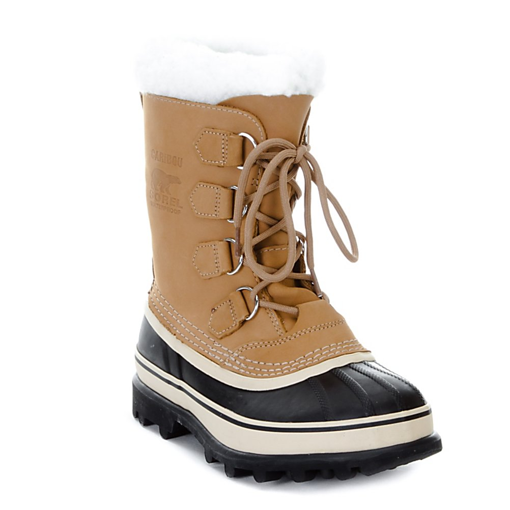 Ski The perfect boot to slip your tired feet into after a full, hard day of skiing, boarding skating, tobogganing or your other winter interests. Energize your feet as you wear this pair of original Sorel Caribou Boots around the lodge or while shoveling the snow. The seams have been sealed and are waterproof, so you will stay warm, comfortable and dry. The nubuck leather upper is also waterproof for maximum protection. Other benefits include the wool and acrylic blend snow cuffs for additional warmth as well as the 2.5mm bonded felt frost plug that are used under your foot to increase the thermal barrier between you and the cold ground. The Thermoplus felt inner boot has a 4 layer construction. One of the 4 is the wicking polyester that pulls moisture away from your feet while the thermal polypropylene transfers moisture to the reservoir to keep you protected and dry. The third is the breathable radiantex thermal reflective membrane that holds the heat in and keeps the cold out while the outer viscose moisture reservoir keeps moisture away from your feet promoting fast evaporation for total comfort and protection from the cold. The Aero Trac outsole and the vulcanized rubber shell gives the boot the stiffness that provides you with the great traction that is needed through the icy cold winter months. This pair of boots is a must have for the outdoor enthusiast who is not afraid to trek and roam one step at a time.  Built tough to stand the test of time,  Waterproof construction with sealed seams, to keep out moisture,  Removable Thermo Plus 9mm Felt inner boot lining,  Cozy wool/acrylic blend snow cuffs,  2.5mm bonded felt frost plug provides space between your feet and the ground,  Handcrafted waterproof vulcanized rubber shell,  Stable Sorel Aero Trac, non-loading outsole,  Recommended for temperatures -40 degrees Celsius and Fahrenheit,  9 inches in height,  Available only in full sizes;  Weight per boot is 33.6 oz,  Model Year: 2016, Product ID: 212891, Model Number: NL1005 280 060, Sole Material: Rugged Natural Rubber, Insulated: Yes, Material: Vulcanized Rubber Shell/Nubuck Leather Upper on Non-Loading Rubber Outsole, Waterproof: Yes, Warranty: One Year, Type: Boot - $94.77