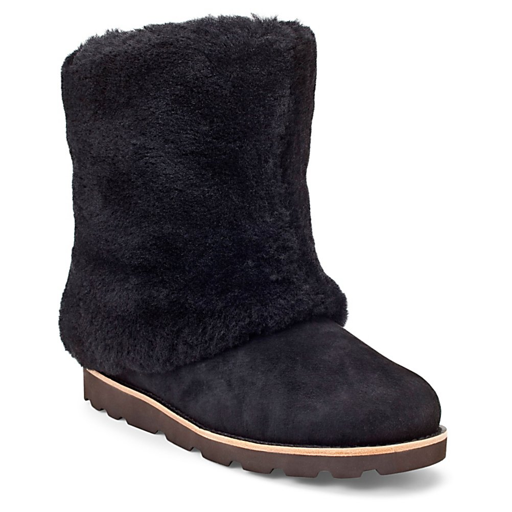Ski UGG Australia Maylin Womens Boots - You will fall in love at first sight when you first look at the UGG Maylin boots. Once you slip into them that love will be taken to a whole new level. Made with a Grade A twinface sheepskin that features waterproof silkee suede you can wear the Maylin anywhere. The Maylin is covered in genuine sheepskin sockliner that naturally wicks away moisture and helps keep your feet warm and dry. The Molded EVA outsole is lightweight and flexible and provides a soft comfy feel. Classic colors and quality construction just solidify this boot's ultimate fashion capability. . Product ID: 243305, Model Year: 2013, Sole Material: Lightweight and flexible molded EVA, Insulated: No, Type: Boot, Material: Grade A Twinface sheepskin with waterproof silkee suede, Waterproof: Yes, Warranty: One Year - $199.92