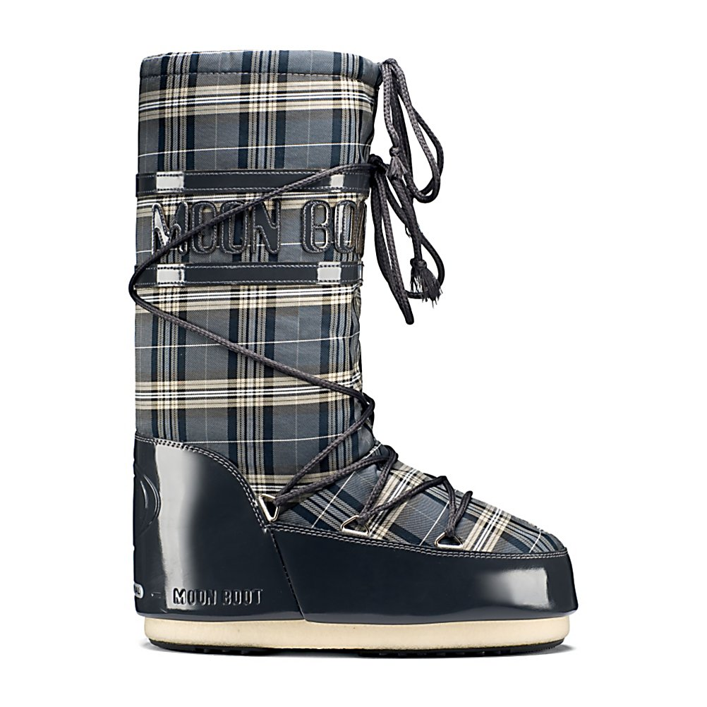 Ski Tecnica Tartan MoonBoot Womens Boots - The Tecnica Moon Boot Tartan boots will have you looking stylish and keep you warm. The Tartan is insulated with polyester to keep your feet toasty warm. Wrap around lacing allows you to get a nice tight and secure fit. The weatherproof Fabric upper and heavily padded linings will help keep you warm. The heavy-duty rubber outsole will keep you steady, even on icy surfaces. After a long hard day skiing out on the mountain slip into these bad lads for stylish comfort and warmth. . Warranty: One Year, Waterproof: No, Material: Fabric Upper, Type: Boot, Insulated: Yes, Sole Material: Rubber, Model Year: 2012, Product ID: 245509, Model Number: 14016300 002 41.0, GTIN: 0885315010339 - $69.91