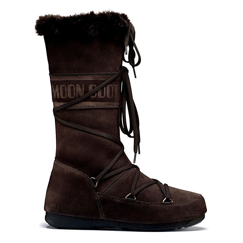 Ski Tecnica W.E. Butter MoonBoot Womens Boots - The Tecnica Moon Boot W.E. Butter boots will provide you with all day comfort and style in cold weather. The W.E. Butter features a luxurious suede upper with wrap around lacing that ties in the front and lace closure at the collar. This boot will keep your feet toasty warm with TecniTherm insulation that is fleece lined and very cozy and warm. The EVA cushioned footbed will keep your feet feeling very comfortable no matter how long you have these bad boys on your feet. They are so comfortable it will have you feeling like you are walking on pillows. . Bearing Grade: Recreational, Warranty: One Year, Waterproof: No, Material: Suede Upper, Type: Boot, Insulated: Yes, Sole Material: Synthetic, Model Year: 2012, Product ID: 245525, Model Number: 24000300 002 38, GTIN: 0883506956855 - $69.91