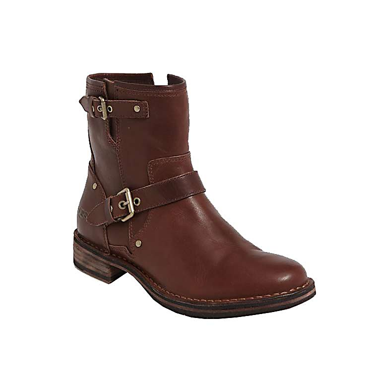Ski UGG Australia Fabrizia Womens Boots - Ugg created this amazing boot with inspiration from the iconic motorcycle style boot. The Fabrizia Boot reeks total coolness with an array of full grain leathers and or suede's. A shearling footbed creates year-round comfort in an otherwise-classic moto boot with an easy side zip. The Fabrizia Boot is finished with a number of distressing/flexing techniques giving a broken-in look, bringing together a rugged outlaw feel, with Ugg appeal. Laser etched logo and gold metal nailhead details complete this vintage design. . Warranty: Other, Waterproof: No, Material: Leather, Type: Boot, Insulated: No, Sole Material: Rubber, Model Year: 2013, Product ID: 284720 - $189.92