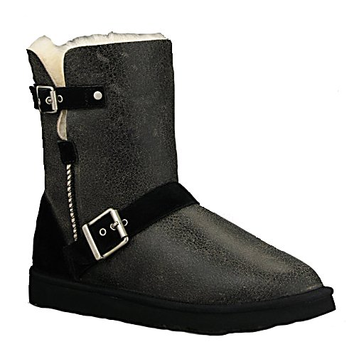 Ski UGG Australia Classic Short Dylyn Womens Boots - The UGG Australia Classic Short Dylyn Boots off a comfy short-motorcycle boot design for the latest trends and a Grade A Twinface Sheepskin Upper for durability and style. Your feet will feel amazing when you slip them into eh the genuine sheepskin sock that will naturally wick moisture away from your feet so that you stay dry and warm all throughout the day. The Dylyn utilizes a cushy foam for additional comfort as well. There are sueded heel guards on the boot and nylon binding to ensure the high standards of the boots and a light and flexible molded EVA bottom to make walking around in the winter easier. With its suede strap with functional buckles, these UGG Australia Classic Short Dylyn Boots are great for showing off your style while ensuring that you stay warm when those temperatures begin to drop. . Warranty: One Year, Waterproof: No, Material: Grade A Twinface Sheepskin, Type: Boot, Insulated: No, Sole Material: Molded EVA Bottom, Model Year: 2013, Product ID: 284864 - $169.95