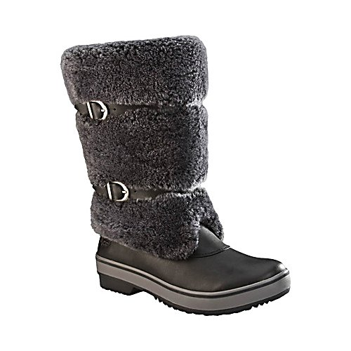 Ski UGG Australia Lilyan Womens Boots - The UGG Australia Lilyan Boots are designed to keep you feeling warm and cozy while also ensuring you look stylish with an authentic outdoor look. These boots are made with a waterproof leather so you won't have to worry about the chilly winter precipitation seeping in. These boots utilize the Vildona Thermal-Reflection Insoles which are great for keeping retaining heat when you're in the cold but also minimize heat when its warmer so that you are always comfortable both indoors and out. The soles of the Lilyan Boots are made with Molded Rubber so that you have plenty of traction when walking around outside where there might be a patch of ice on the sidewalk. The exterior fur is fuzzy and cute with the interior's sheepskin lining leaving your toes beyond cozy. UGG produces the latest in trends and combines it with comfort so that you have boots like the UGG Australia Lilyan Boots to keep you looking and feeling amazing. . Warranty: One Year, Waterproof: Yes, Material: Waterproof Leather, Type: Boot, Insulated: No, Sole Material: Molded Rubber, Model Year: 2013, GTIN: 0737872772802, Model Number: 1001374 STT 7.0, Product ID: 284872 - $129.92